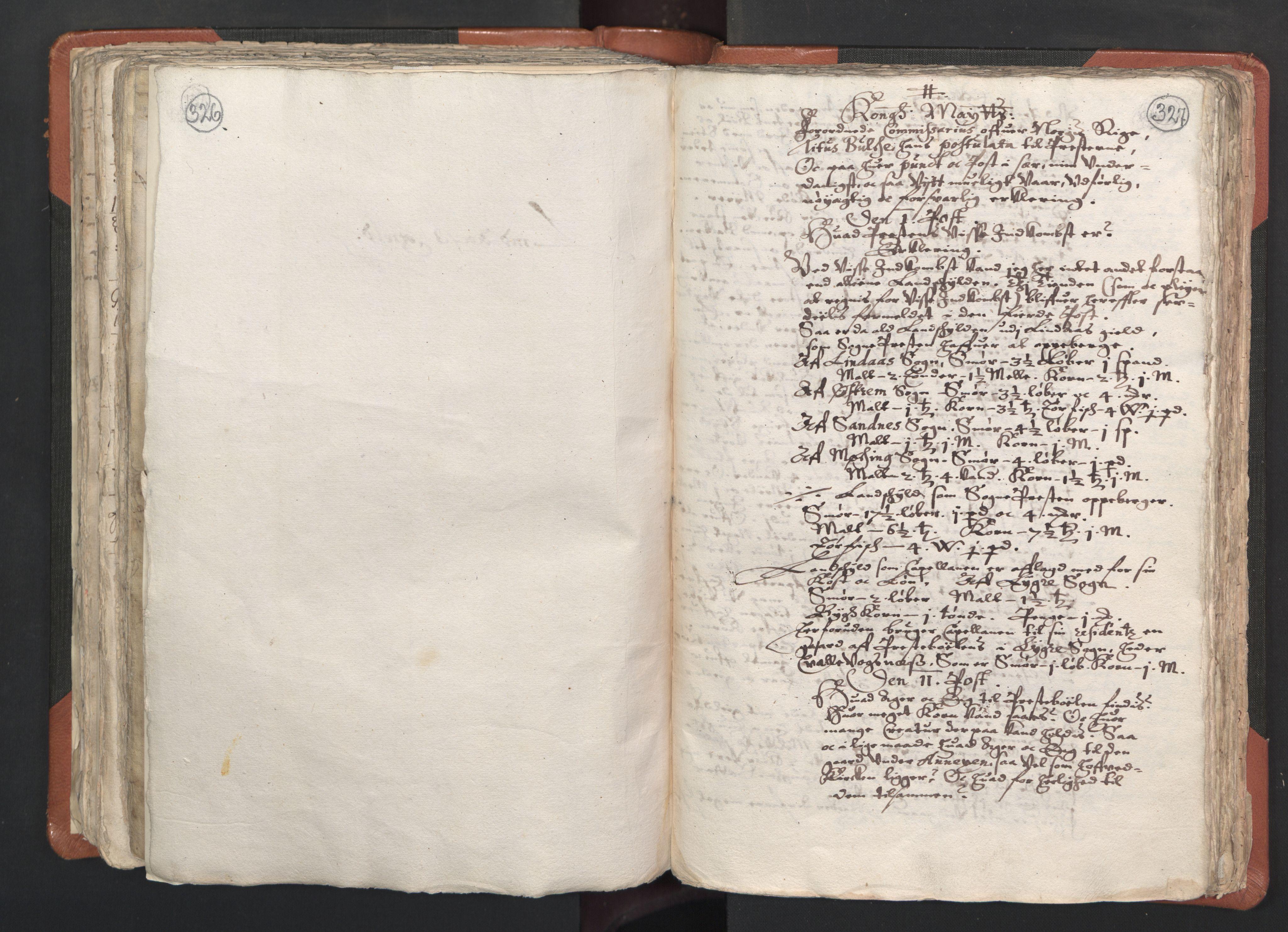 RA, Sogneprestenes manntall 1664-1666, nr. 22: Nordhordland prosti, 1664-1666, s. 326-327