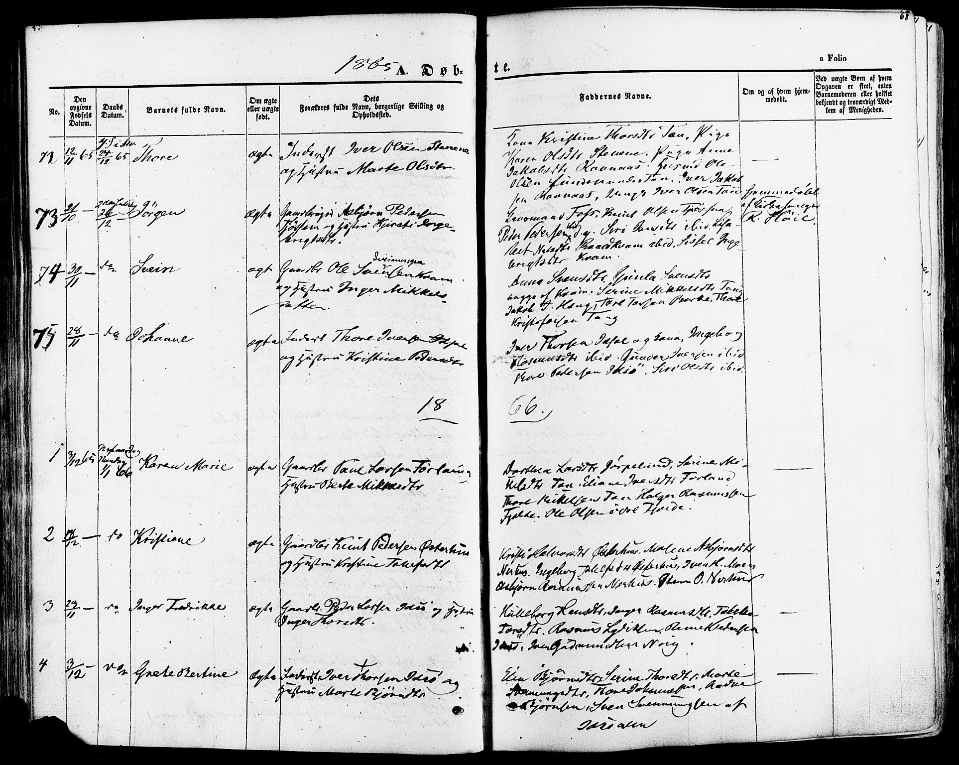 SAST, Strand sokneprestkontor, H/Ha/Haa/L0007: Ministerialbok nr. A 7, 1855-1881, s. 68
