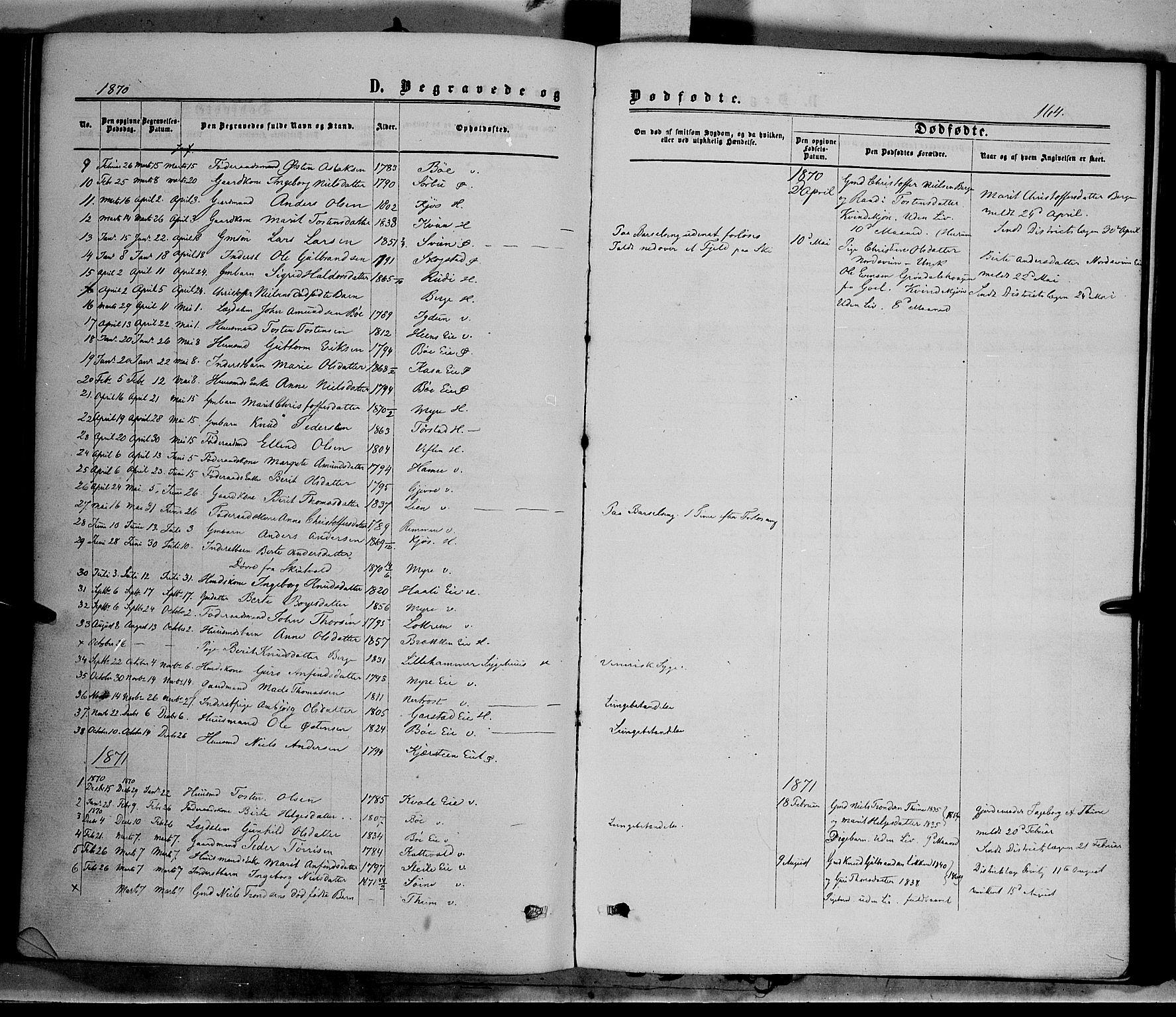 SAH, Vang prestekontor, Valdres, Ministerialbok nr. 7, 1865-1881, s. 164