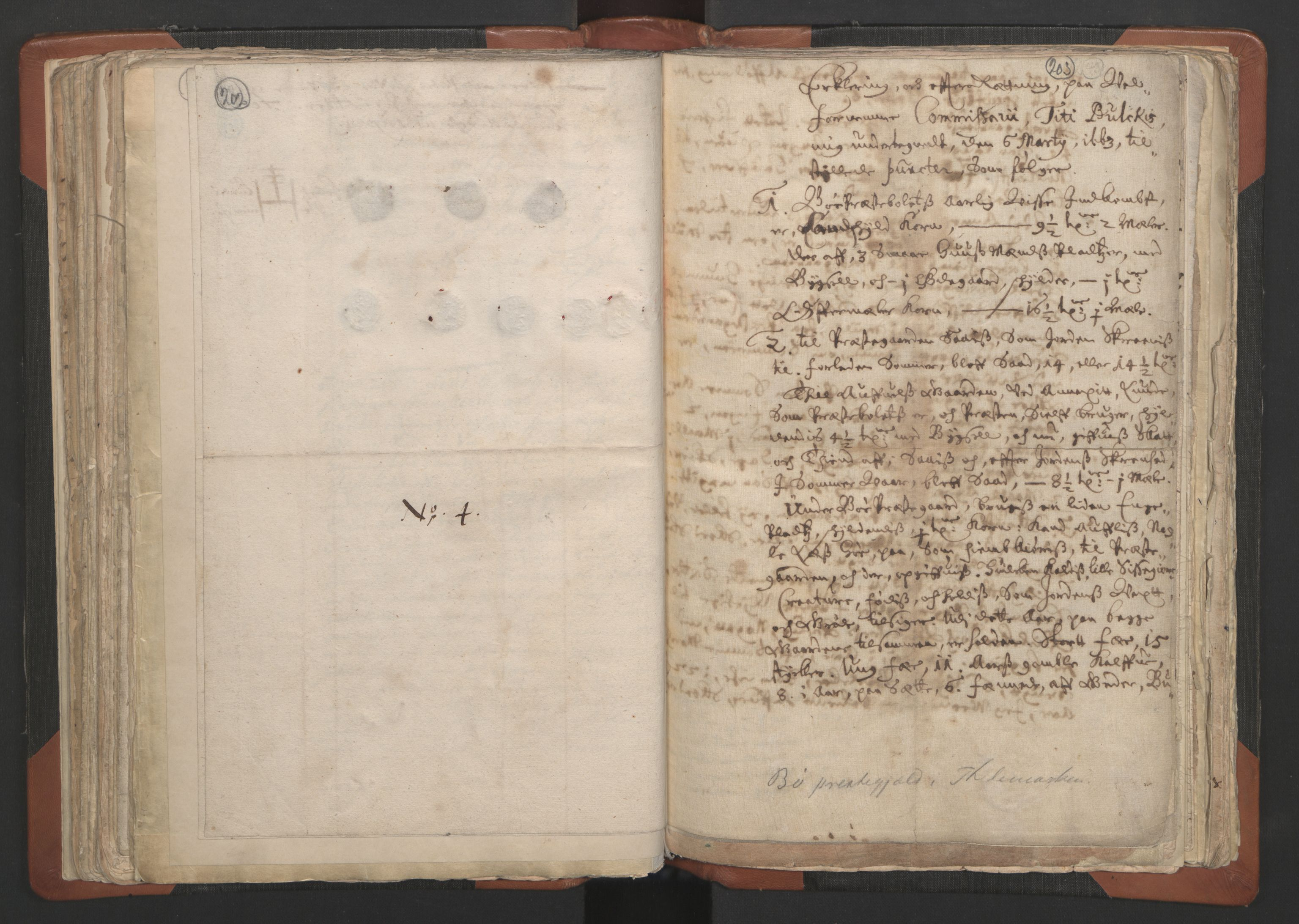 RA, Sogneprestenes manntall 1664-1666, nr. 12: Øvre Telemark prosti, Nedre Telemark prosti og Bamble prosti, 1664-1666, s. 202-203