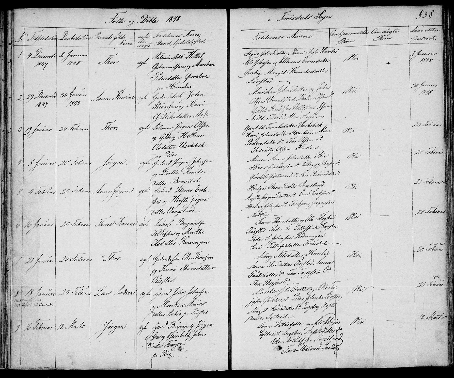 SAKO, Drangedal kirkebøker, F/Fa/L0007b: Ministerialbok nr. 7b, 1837-1856, s. 538