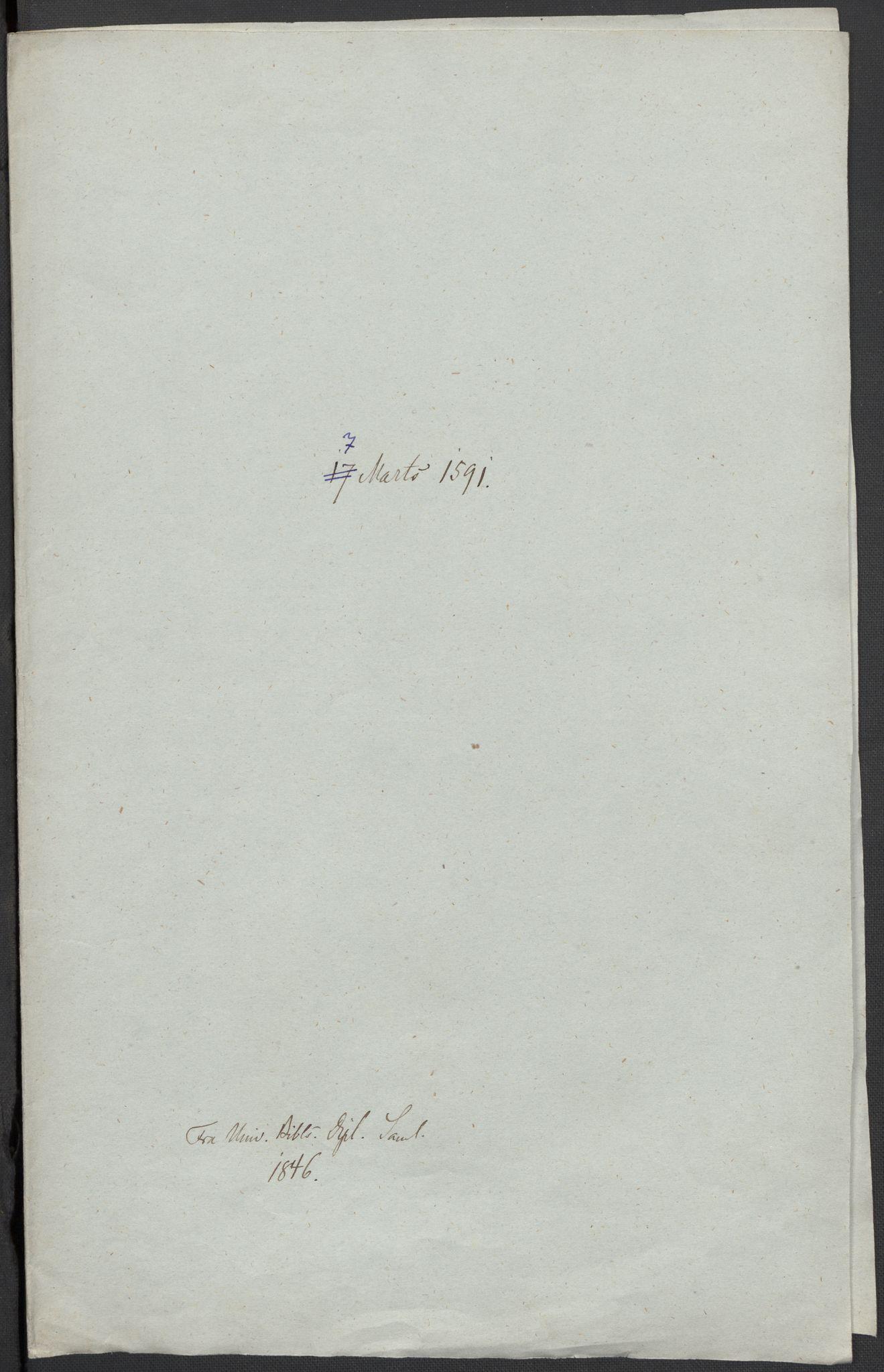 RA, Riksarkivets diplomsamling, F02/L0093: Dokumenter, 1591, s. 51