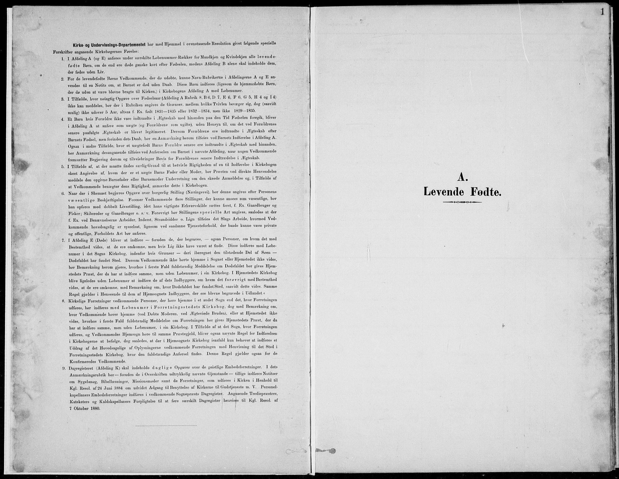 SAH, Nordre Land prestekontor, Klokkerbok nr. 13, 1891-1904, s. 1