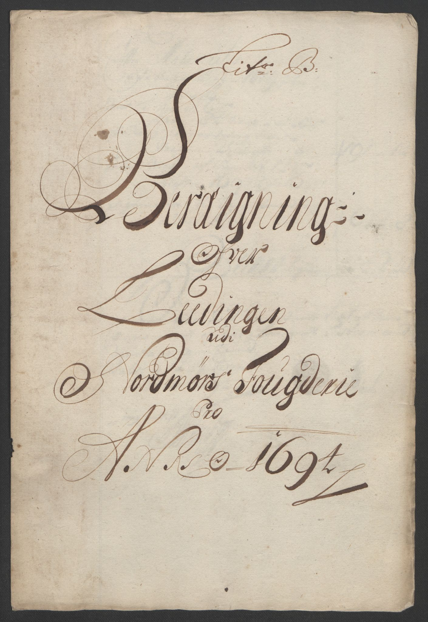 RA, Rentekammeret inntil 1814, Reviderte regnskaper, Fogderegnskap, R56/L3736: Fogderegnskap Nordmøre, 1694-1696, s. 66