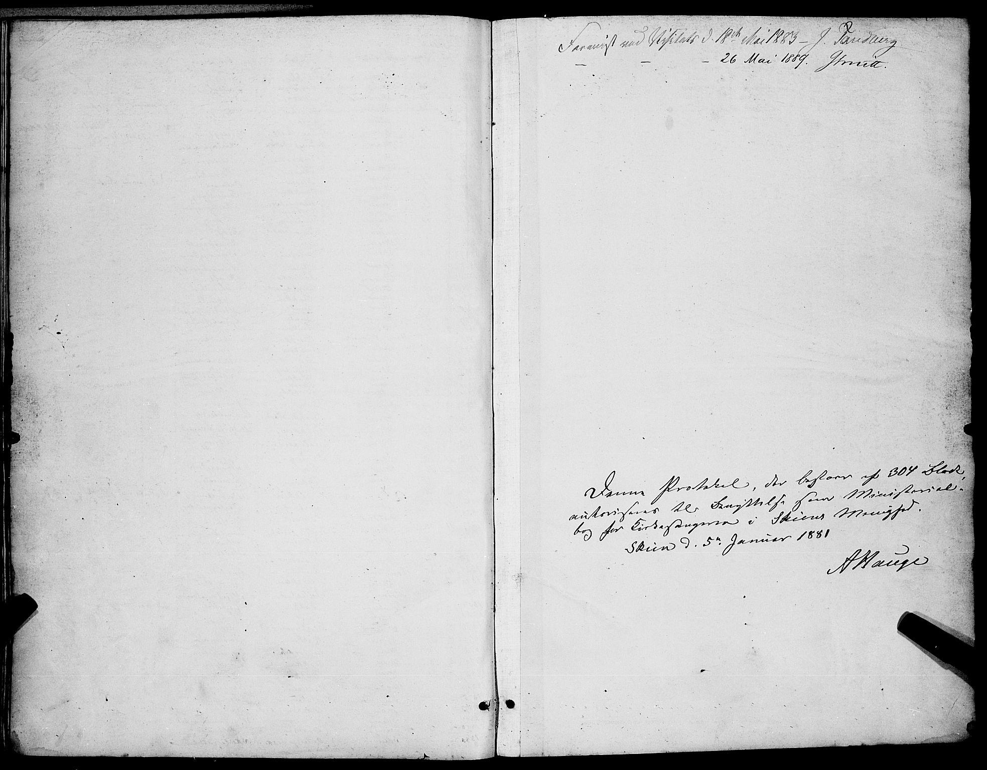 SAKO, Skien kirkebøker, G/Ga/L0006: Klokkerbok nr. 6, 1881-1890