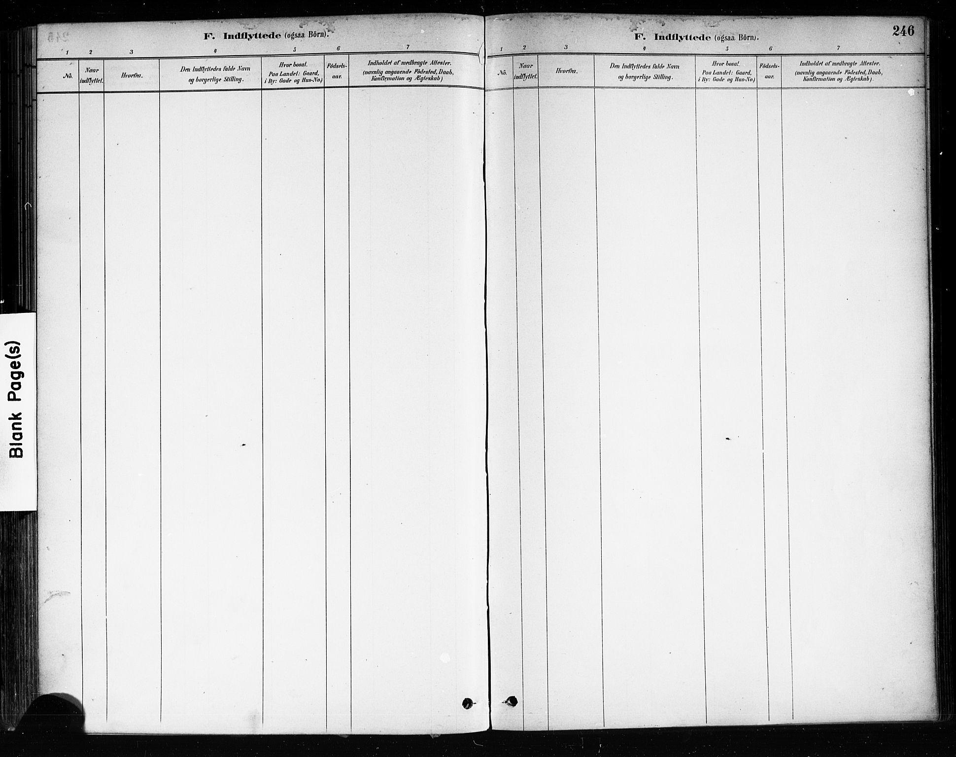 SAKO, Brevik kirkebøker, F/Fa/L0007: Ministerialbok nr. 7, 1882-1900, s. 246