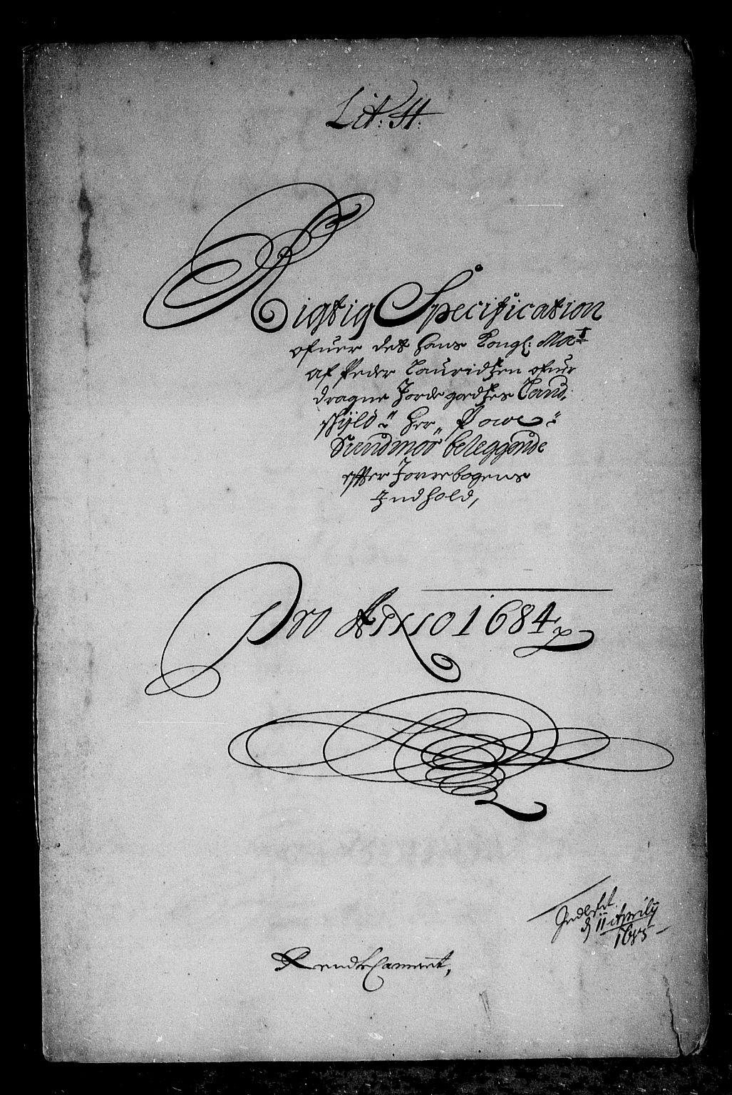 RA, Rentekammeret inntil 1814, Reviderte regnskaper, Stiftamtstueregnskaper, Bergen stiftamt, R/Rc/L0074: Bergen stiftamt, 1684