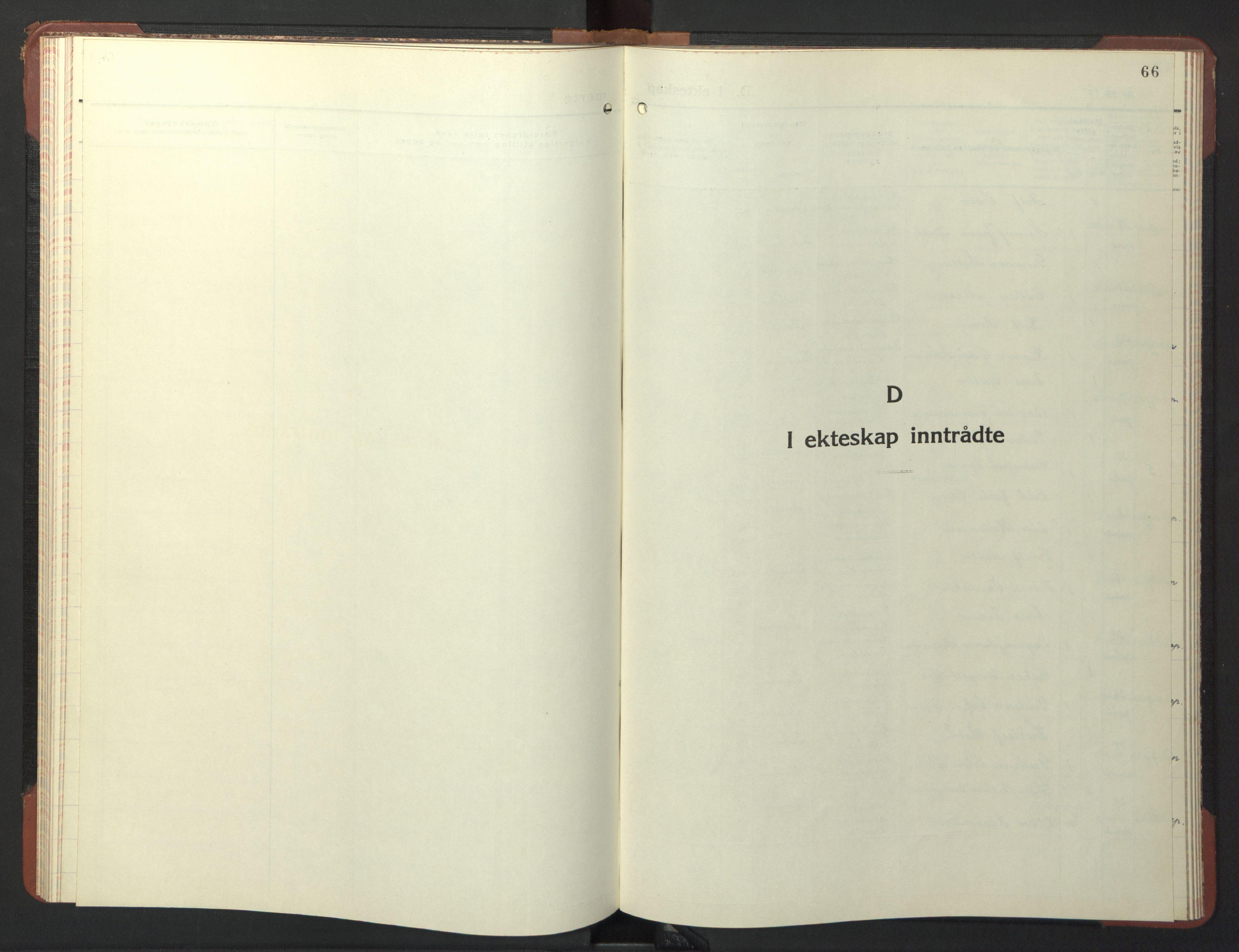 SAT, Ministerialprotokoller, klokkerbøker og fødselsregistre - Sør-Trøndelag, 611/L0358: Klokkerbok nr. 611C06, 1943-1946, s. 66