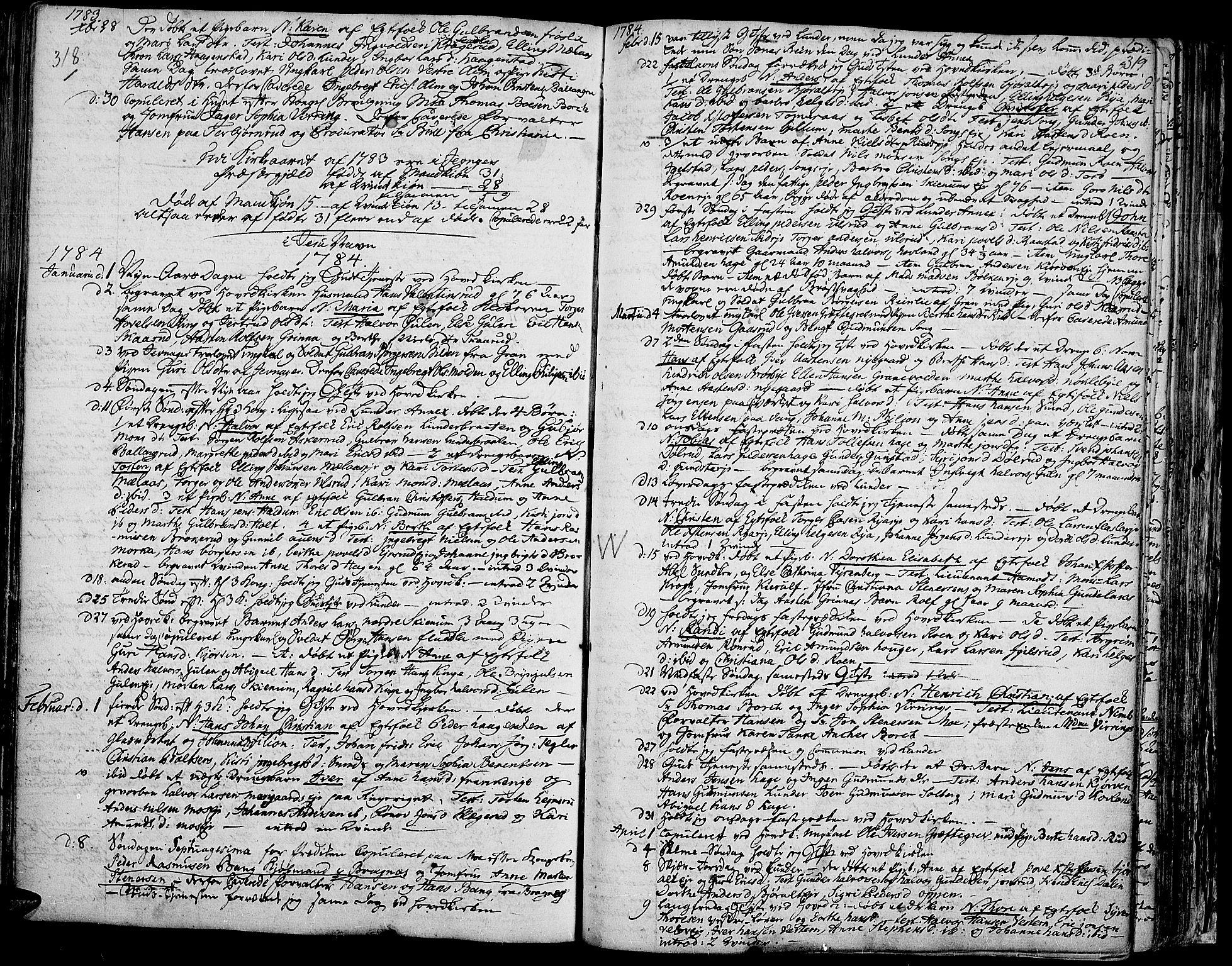 SAH, Jevnaker prestekontor, Ministerialbok nr. 3, 1752-1799, s. 318-319