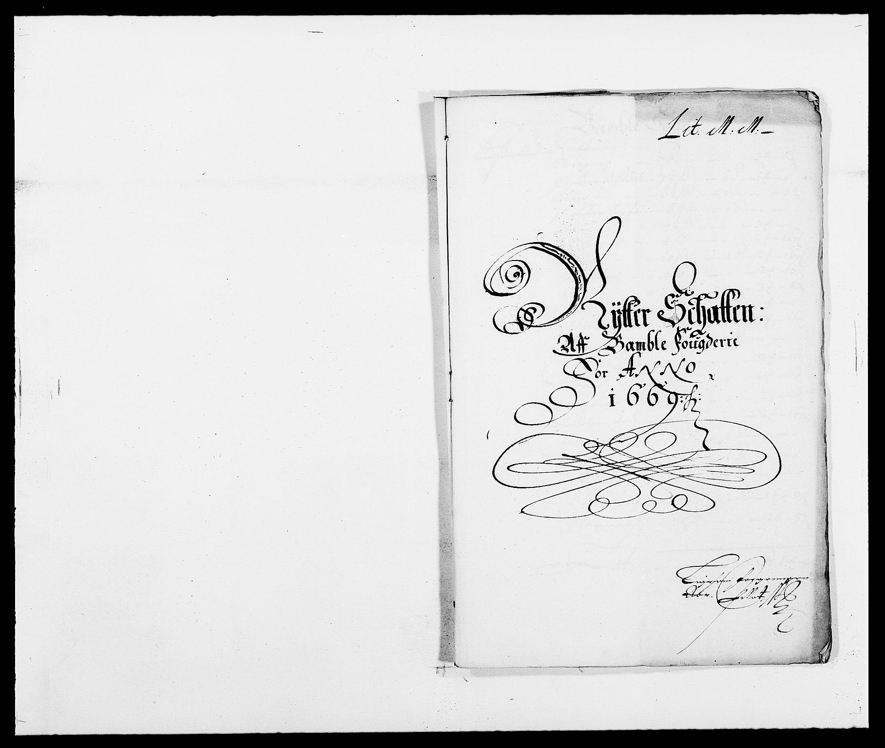 RA, Rentekammeret inntil 1814, Reviderte regnskaper, Fogderegnskap, R34/L2040: Fogderegnskap Bamble, 1662-1669, s. 160