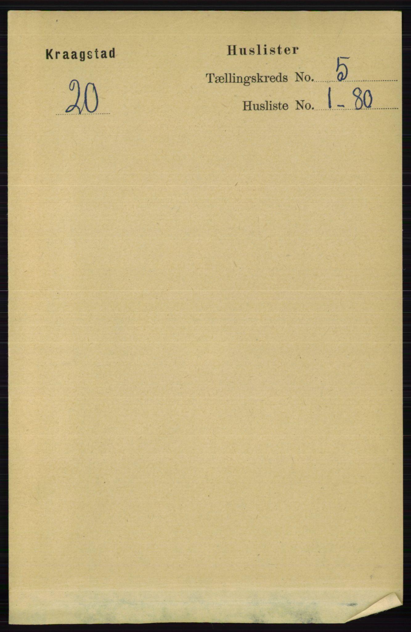 RA, Folketelling 1891 for 0212 Kråkstad herred, 1891, s. 2401