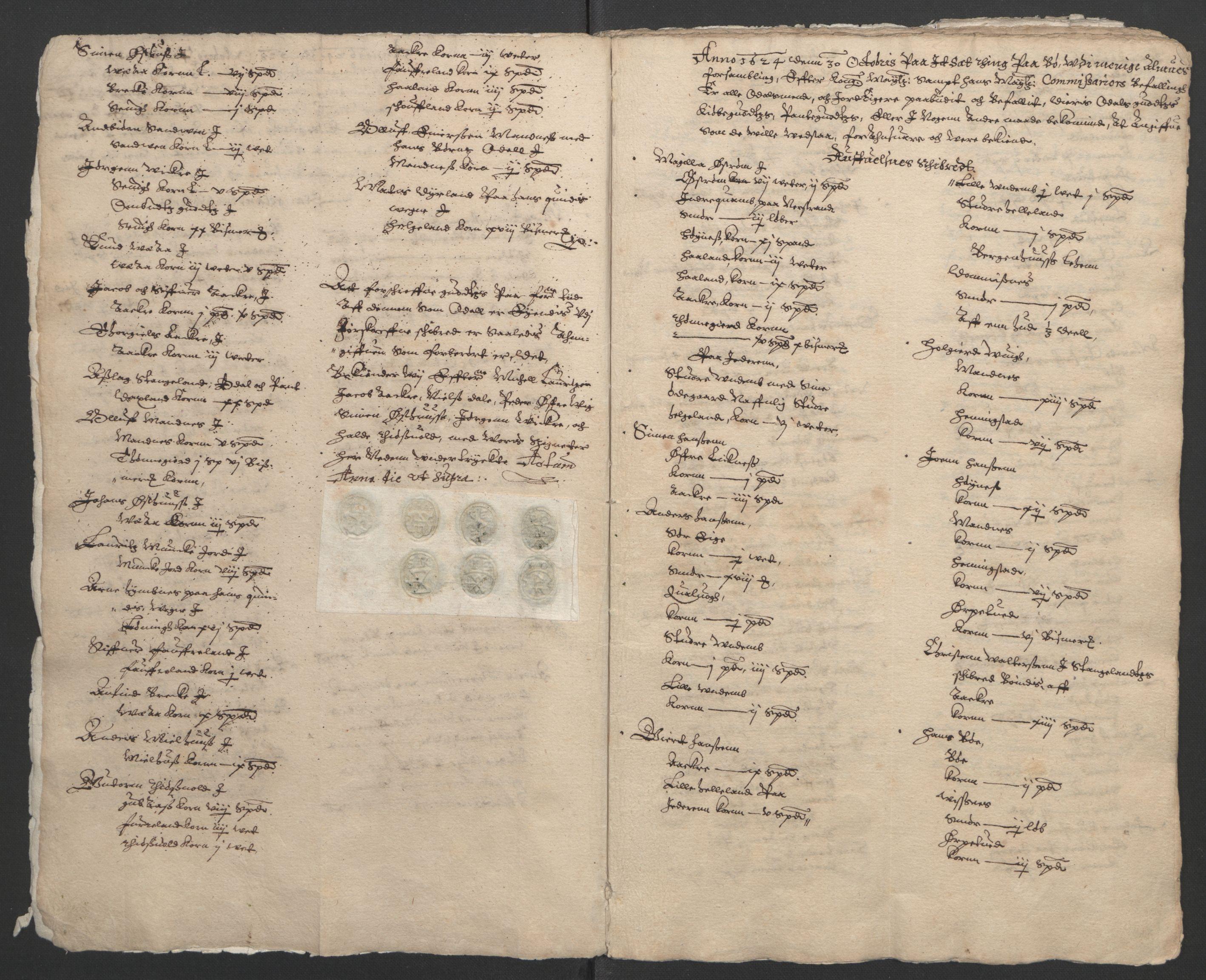 RA, Stattholderembetet 1572-1771, Ek/L0010: Jordebøker til utlikning av rosstjeneste 1624-1626:, 1624-1626, s. 6