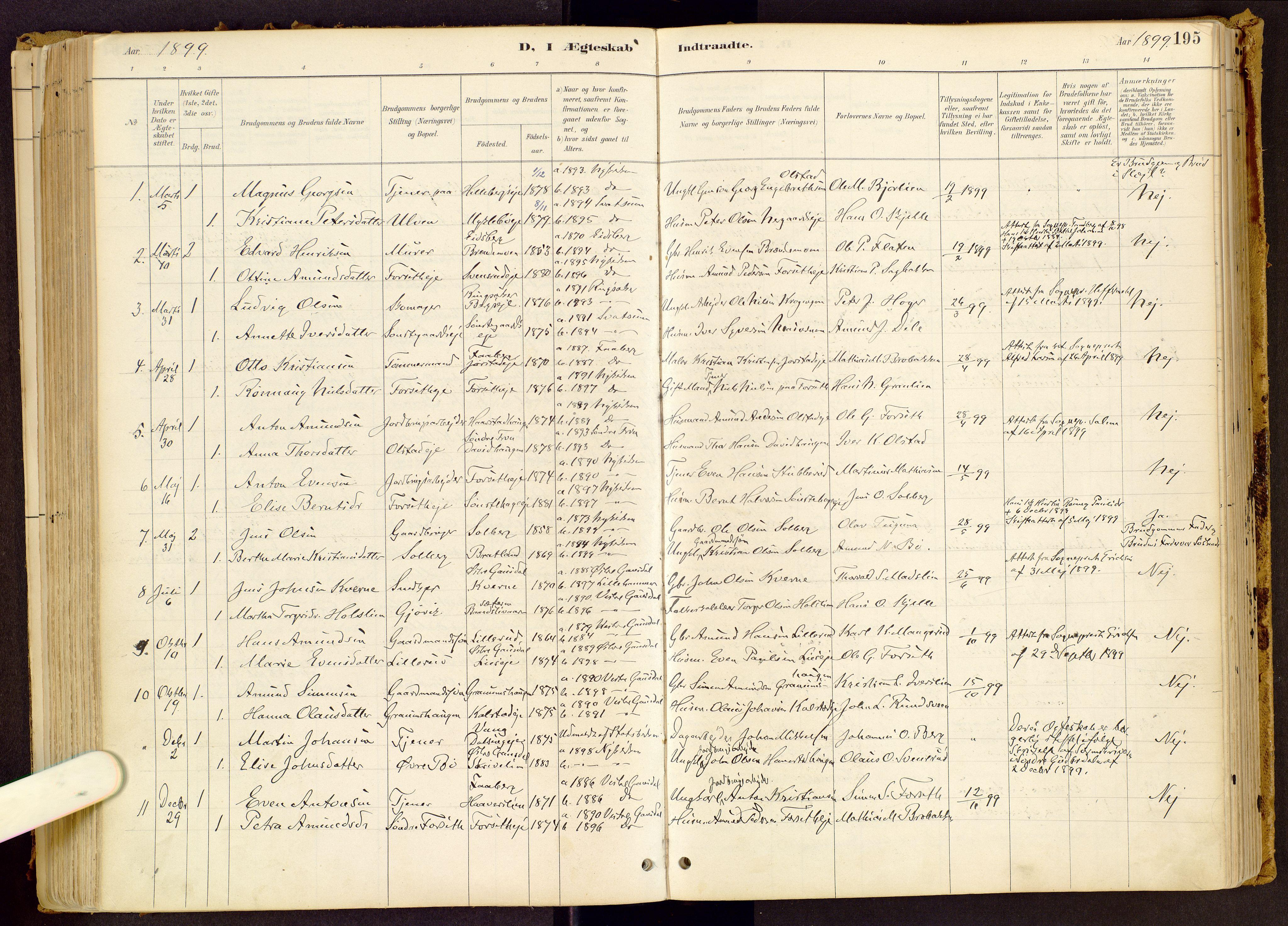 SAH, Vestre Gausdal prestekontor, Ministerialbok nr. 1, 1887-1914, s. 195