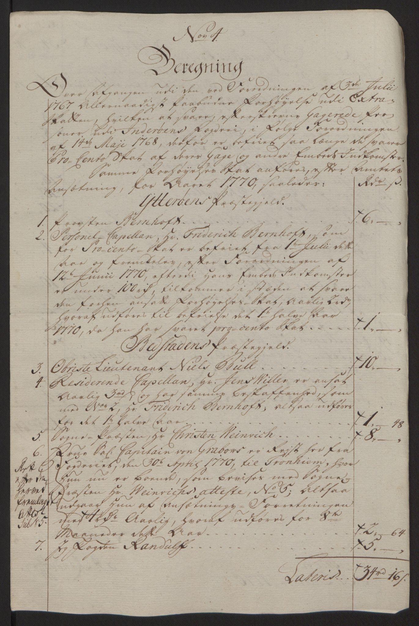 RA, Rentekammeret inntil 1814, Reviderte regnskaper, Fogderegnskap, R63/L4420: Ekstraskatten Inderøy, 1762-1772, s. 395