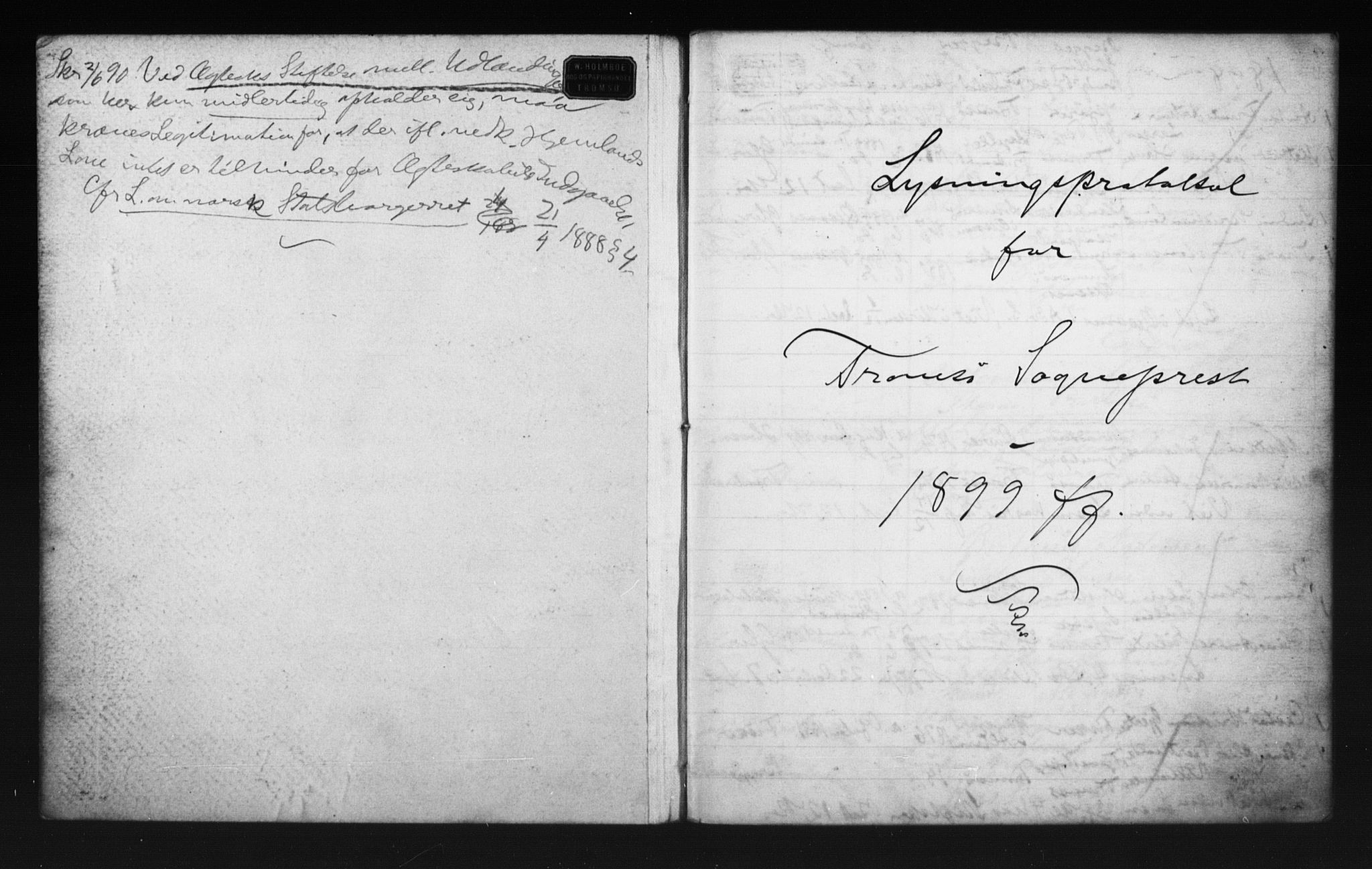 SATØ, Tromsø sokneprestkontor/stiftsprosti/domprosti, H/Hc/L0099/0003: Lysningsprotokoll nr. 7, 1899-1901