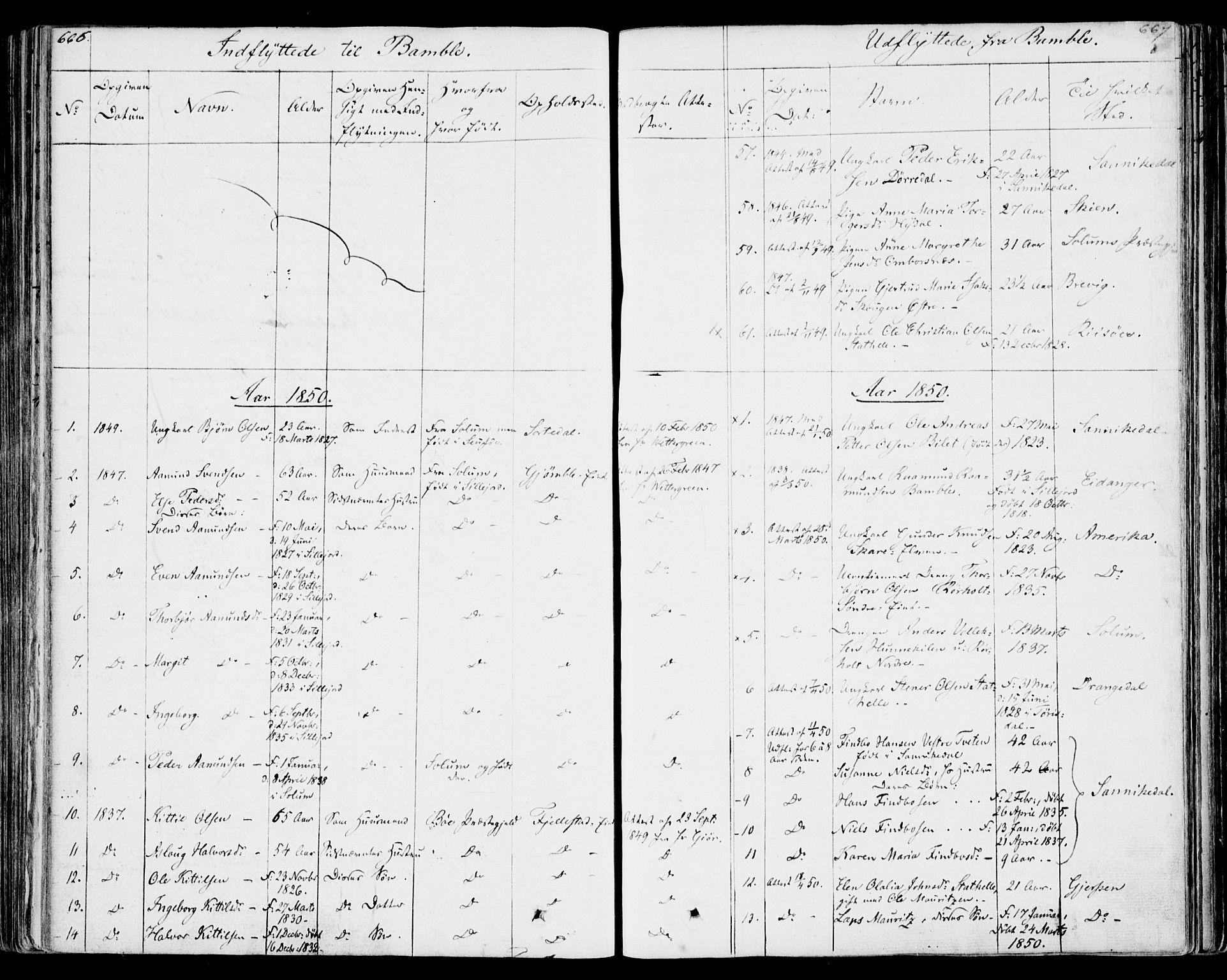 SAKO, Bamble kirkebøker, F/Fa/L0004: Ministerialbok nr. I 4, 1834-1853, s. 666-667