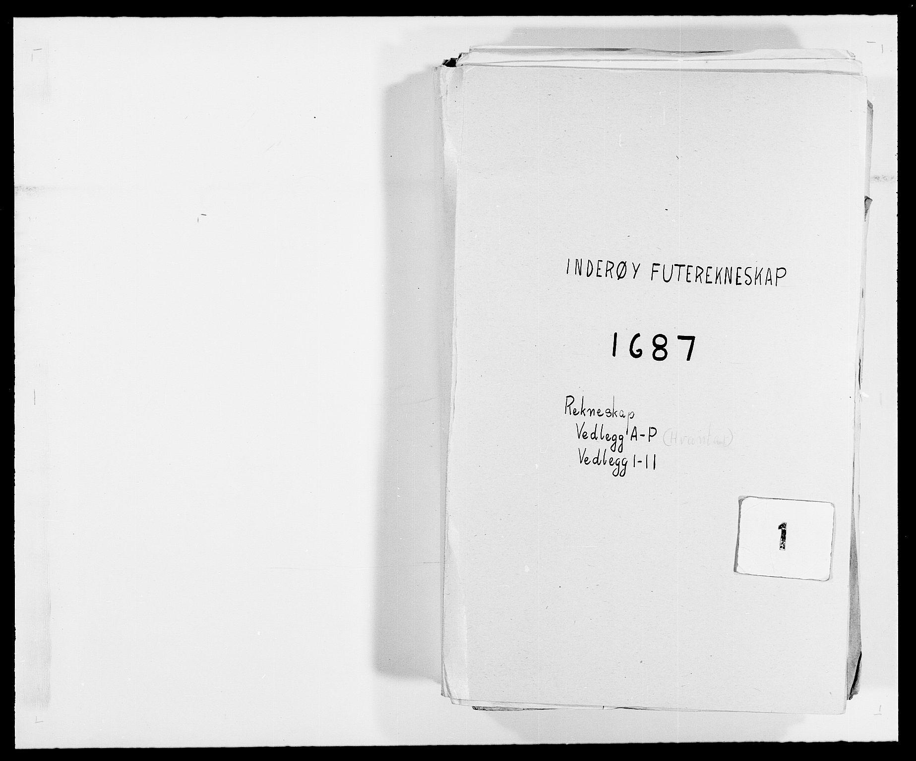 RA, Rentekammeret inntil 1814, Reviderte regnskaper, Fogderegnskap, R63/L4306: Fogderegnskap Inderøy, 1687-1689, s. 1