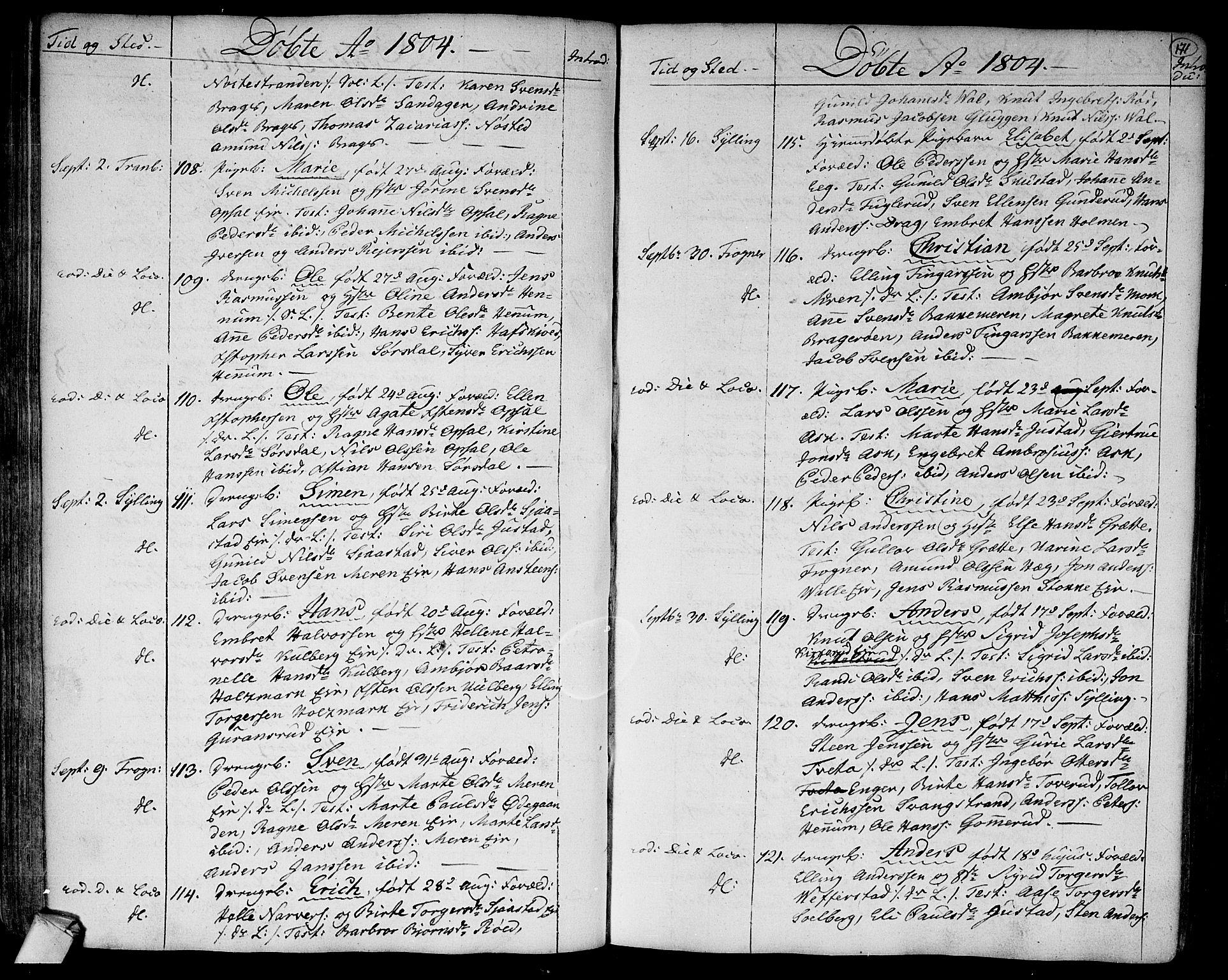 SAKO, Lier kirkebøker, F/Fa/L0007: Ministerialbok nr. I 7, 1794-1813, s. 171