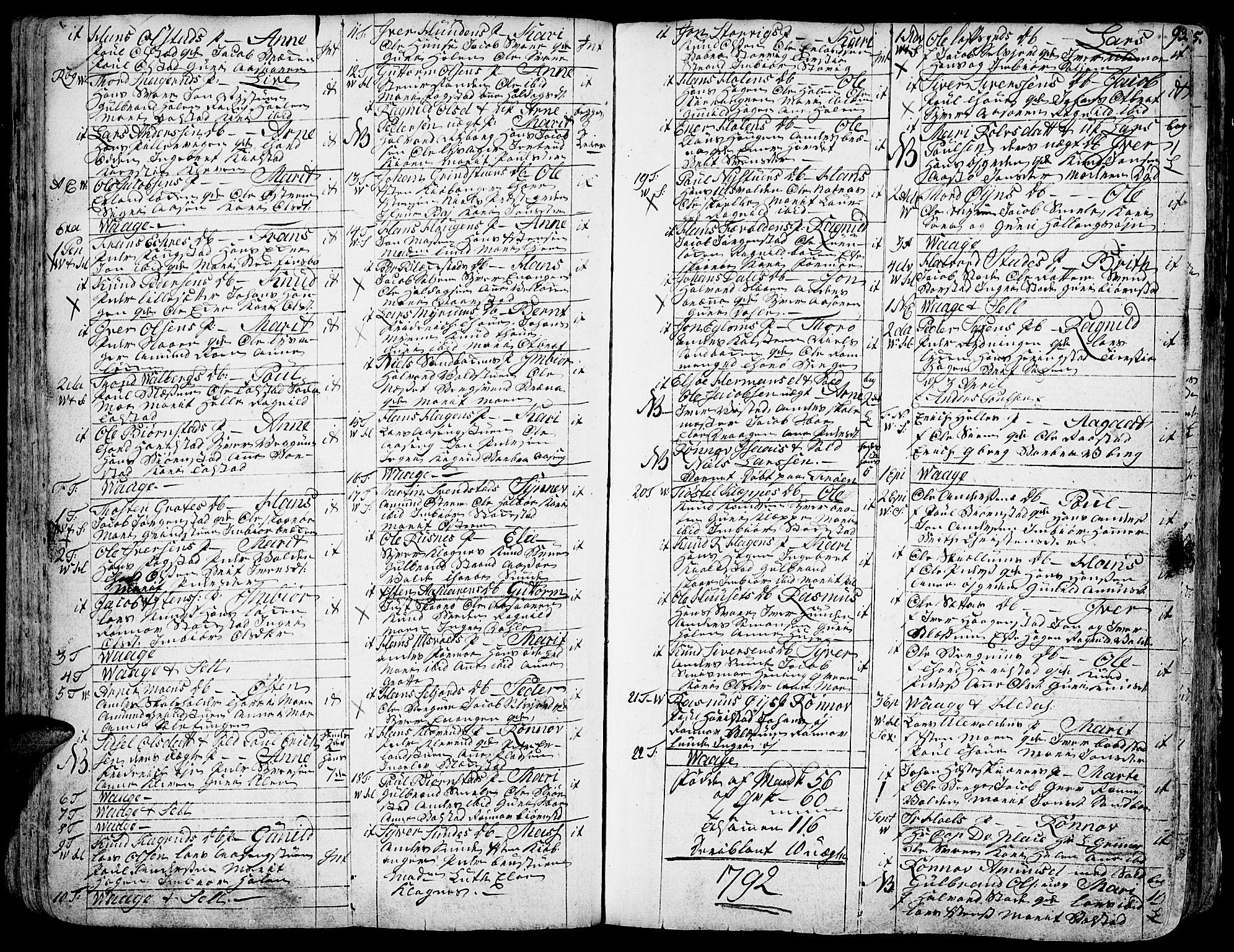 SAH, Vågå prestekontor, Ministerialbok nr. 1, 1739-1810, s. 93