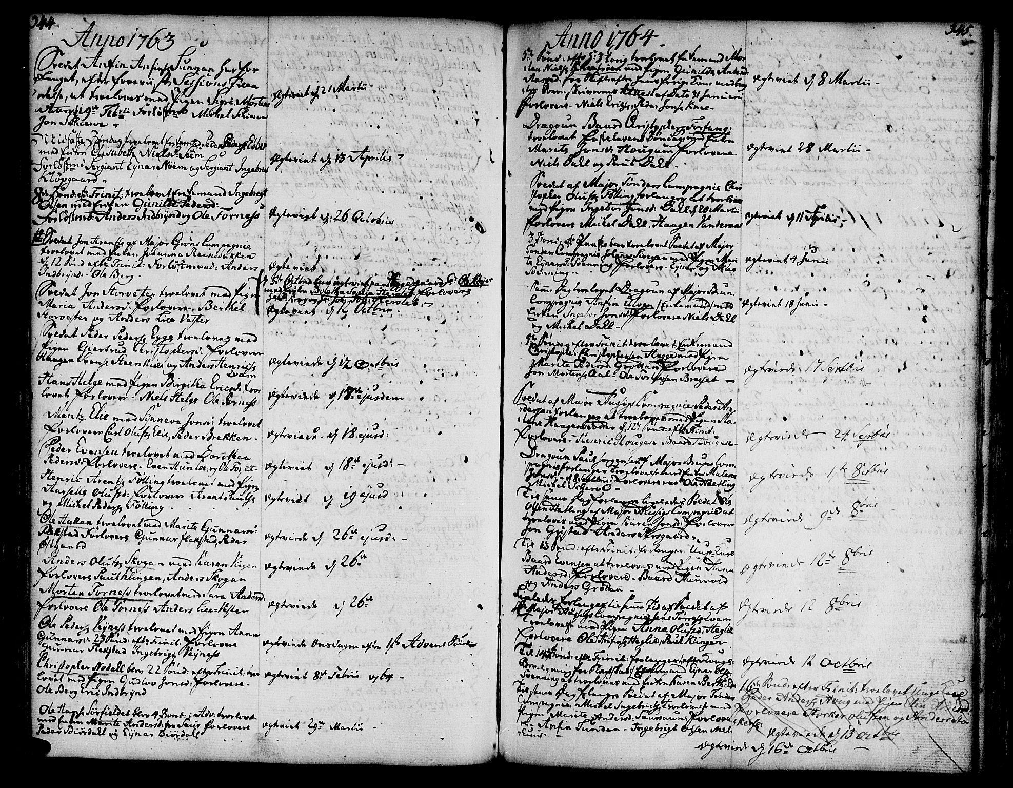 SAT, Ministerialprotokoller, klokkerbøker og fødselsregistre - Nord-Trøndelag, 746/L0440: Ministerialbok nr. 746A02, 1760-1815, s. 344-345