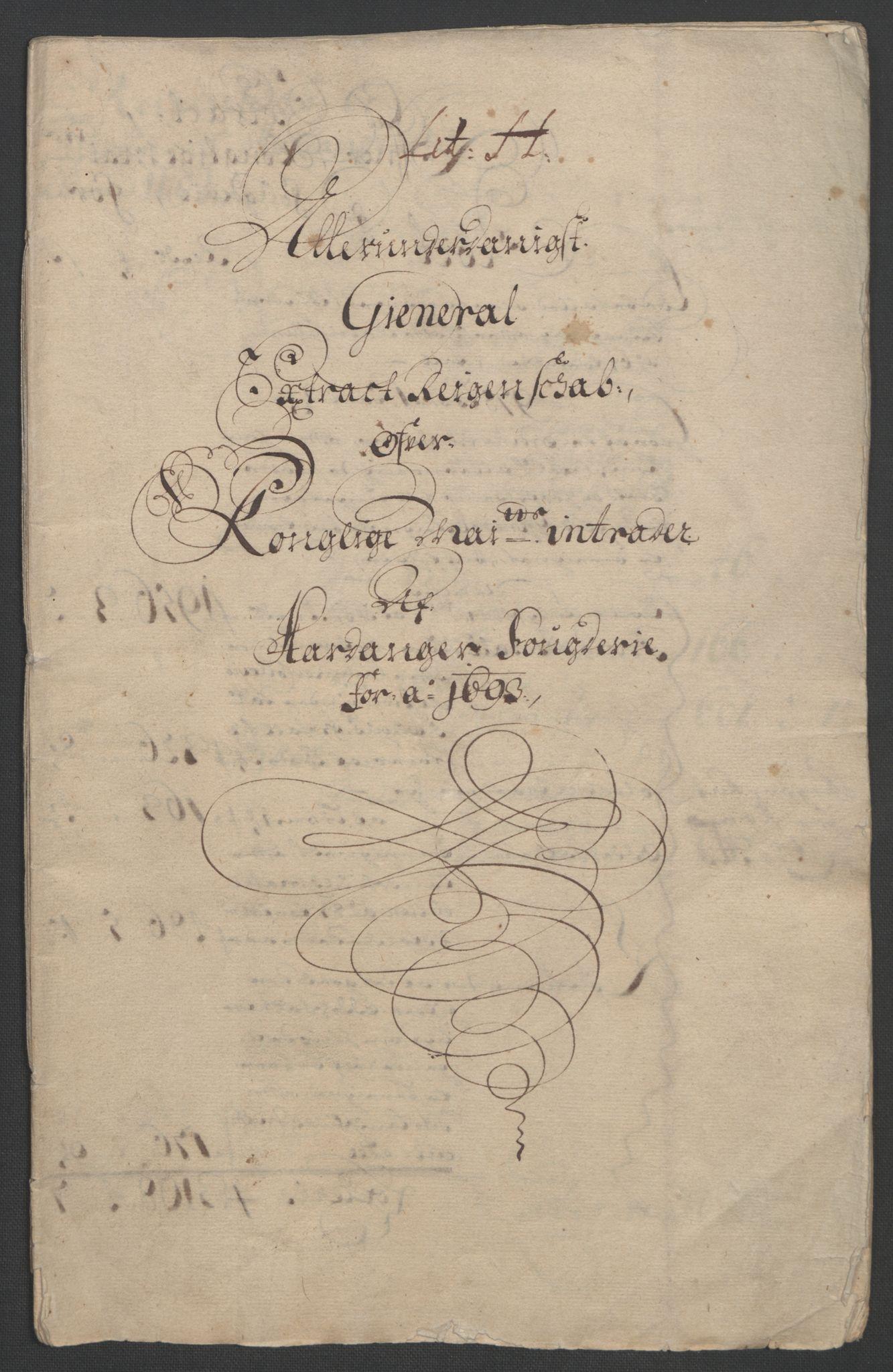 RA, Rentekammeret inntil 1814, Reviderte regnskaper, Fogderegnskap, R48/L2974: Fogderegnskap Sunnhordland og Hardanger, 1693, s. 132