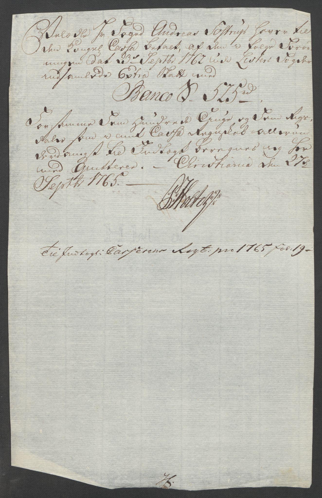 RA, Rentekammeret inntil 1814, Reviderte regnskaper, Fogderegnskap, R45/L2704: Ekstraskatten Lista og Mandal, 1762-1768, s. 164