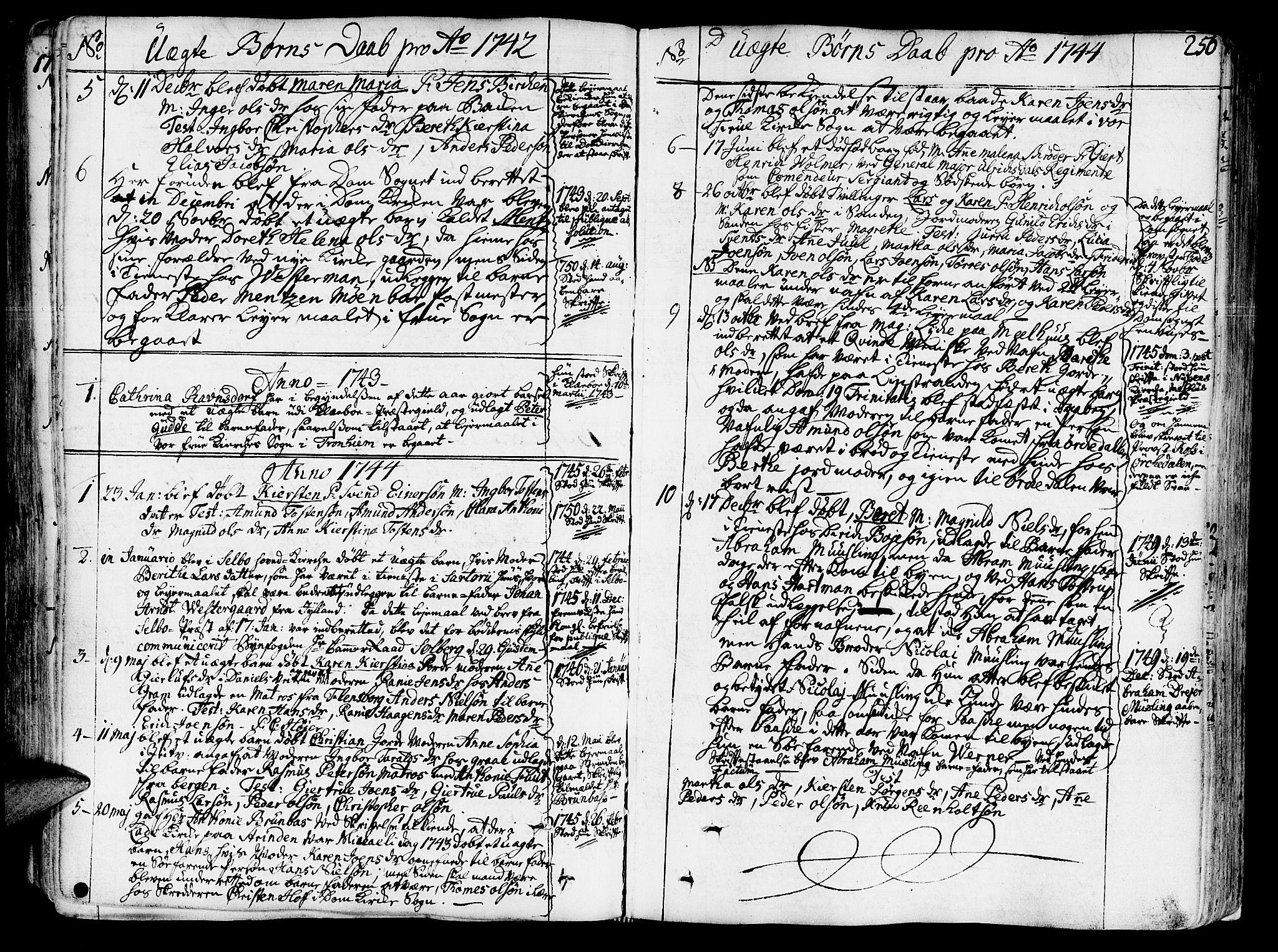 SAT, Ministerialprotokoller, klokkerbøker og fødselsregistre - Sør-Trøndelag, 602/L0103: Ministerialbok nr. 602A01, 1732-1774, s. 256