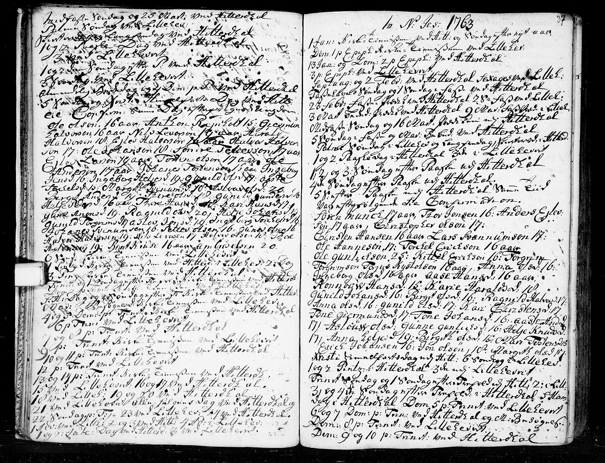 SAKO, Heddal kirkebøker, F/Fa/L0003: Ministerialbok nr. I 3, 1723-1783, s. 37