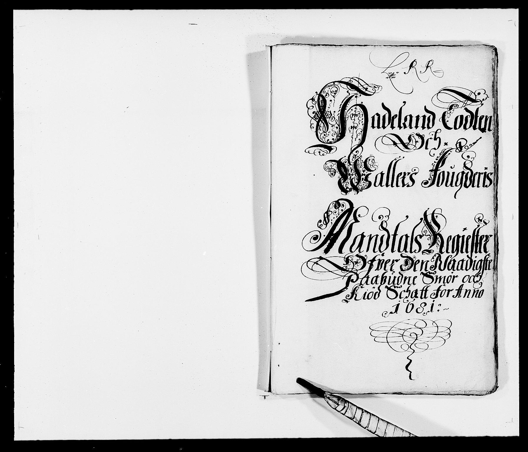 RA, Rentekammeret inntil 1814, Reviderte regnskaper, Fogderegnskap, R18/L1279: Fogderegnskap Hadeland, Toten og Valdres, 1681, s. 1