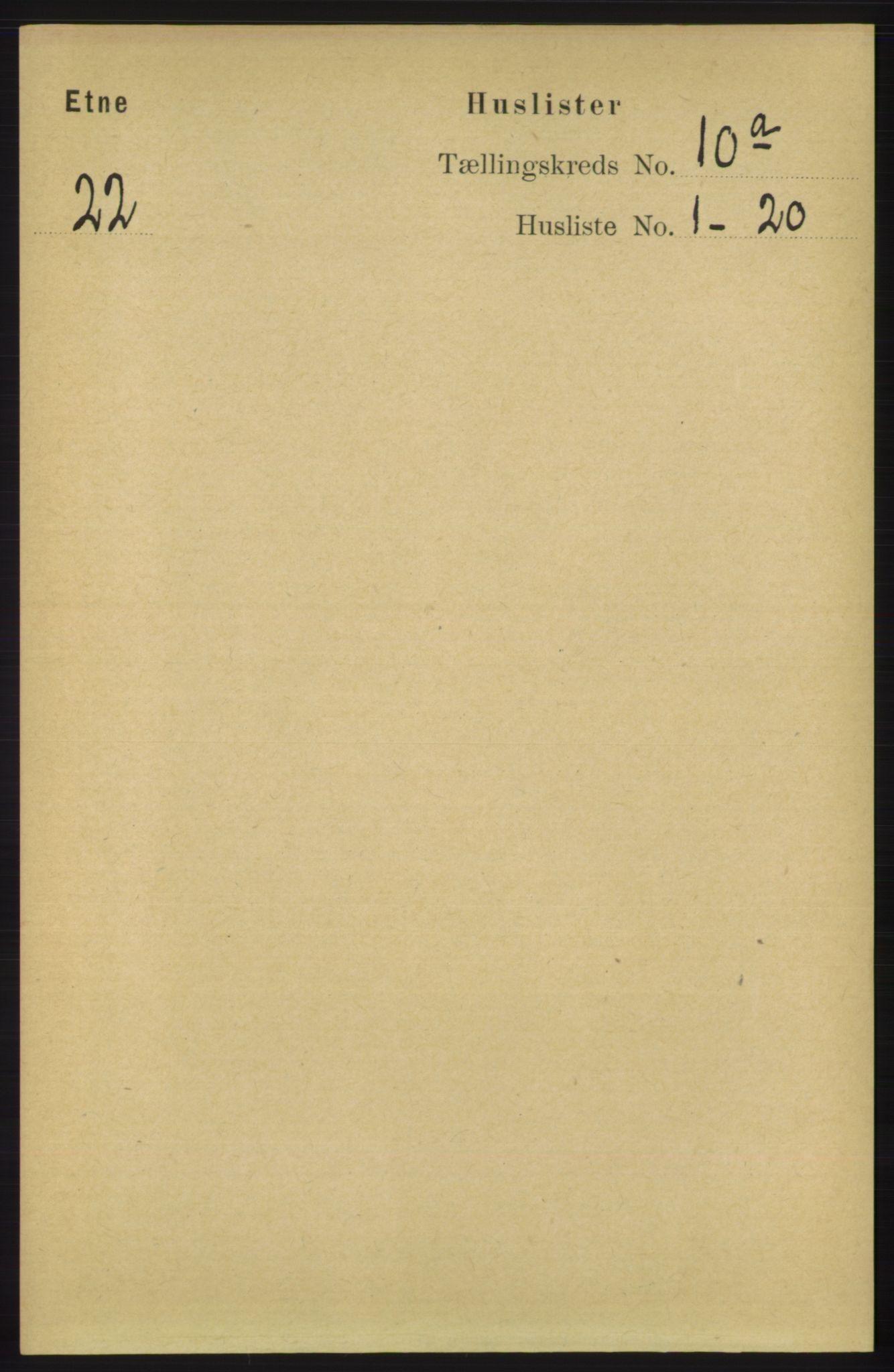 RA, Folketelling 1891 for 1211 Etne herred, 1891, s. 1840