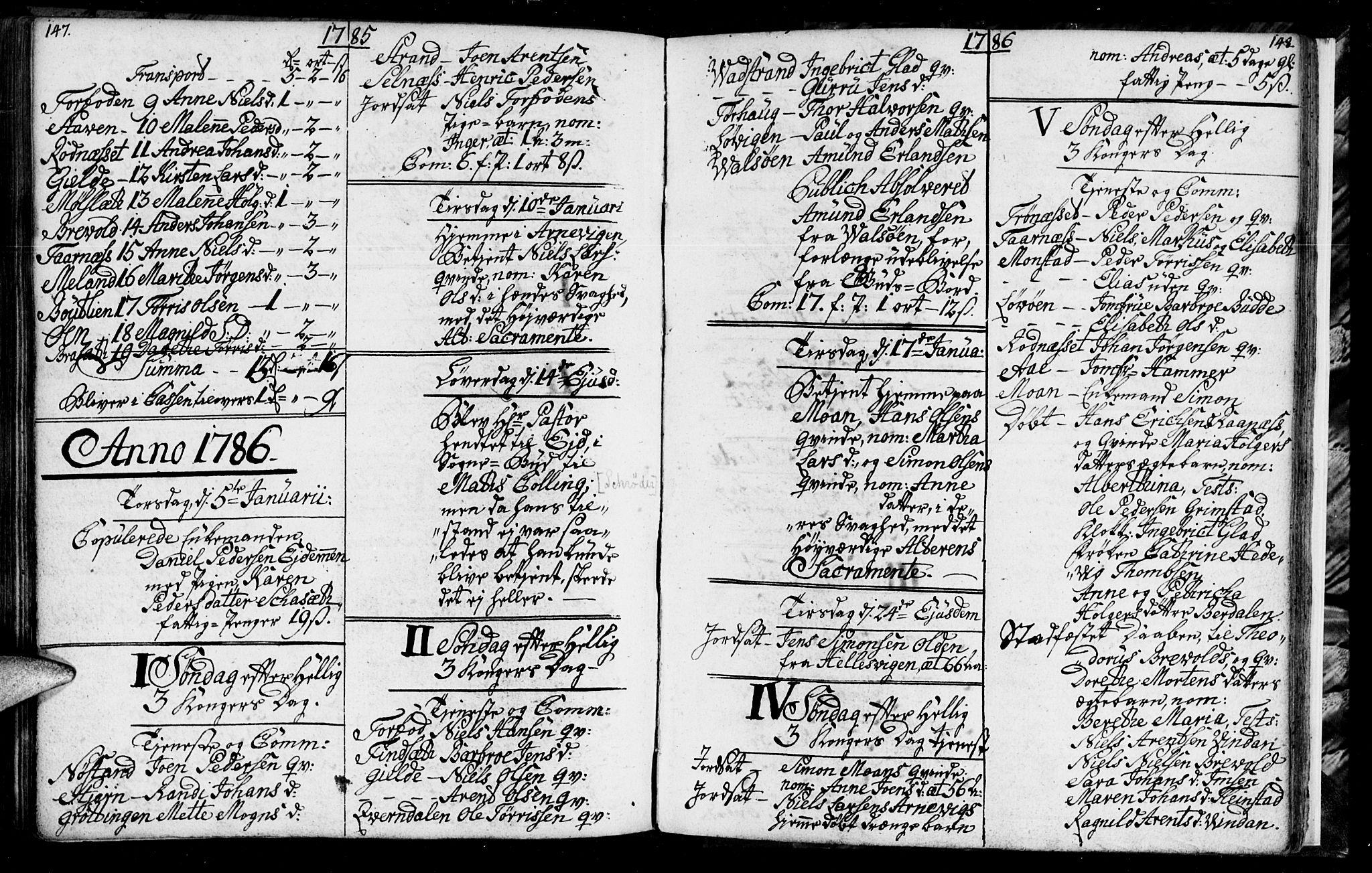 SAT, Ministerialprotokoller, klokkerbøker og fødselsregistre - Sør-Trøndelag, 655/L0685: Klokkerbok nr. 655C01, 1777-1788, s. 147-148