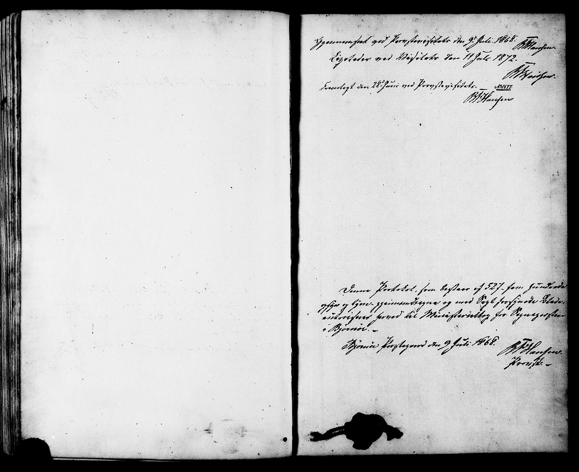 SAT, Ministerialprotokoller, klokkerbøker og fødselsregistre - Sør-Trøndelag, 657/L0706: Ministerialbok nr. 657A07, 1867-1878