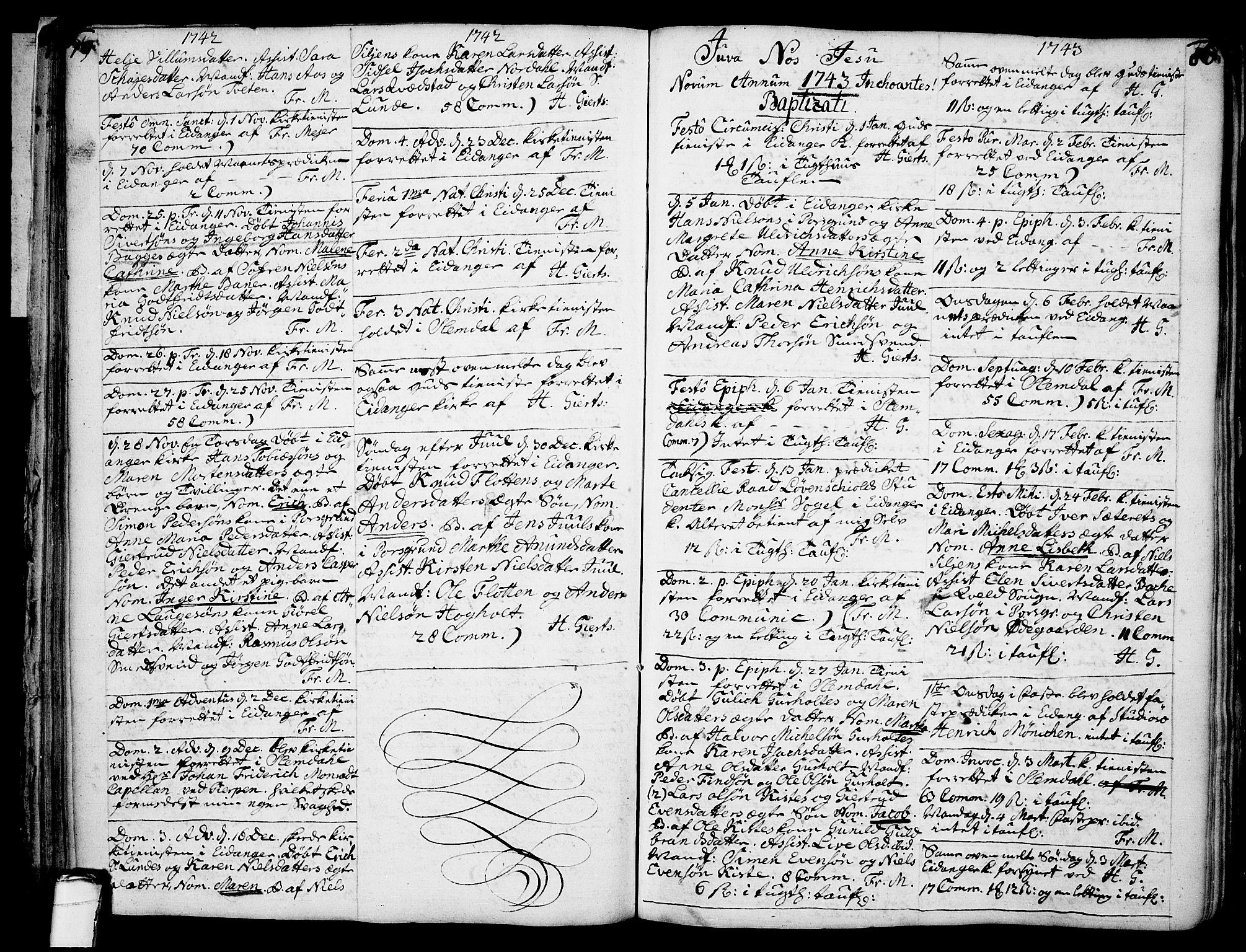 SAKO, Eidanger kirkebøker, F/Fa/L0004: Ministerialbok nr. 4, 1733-1759, s. 79-80