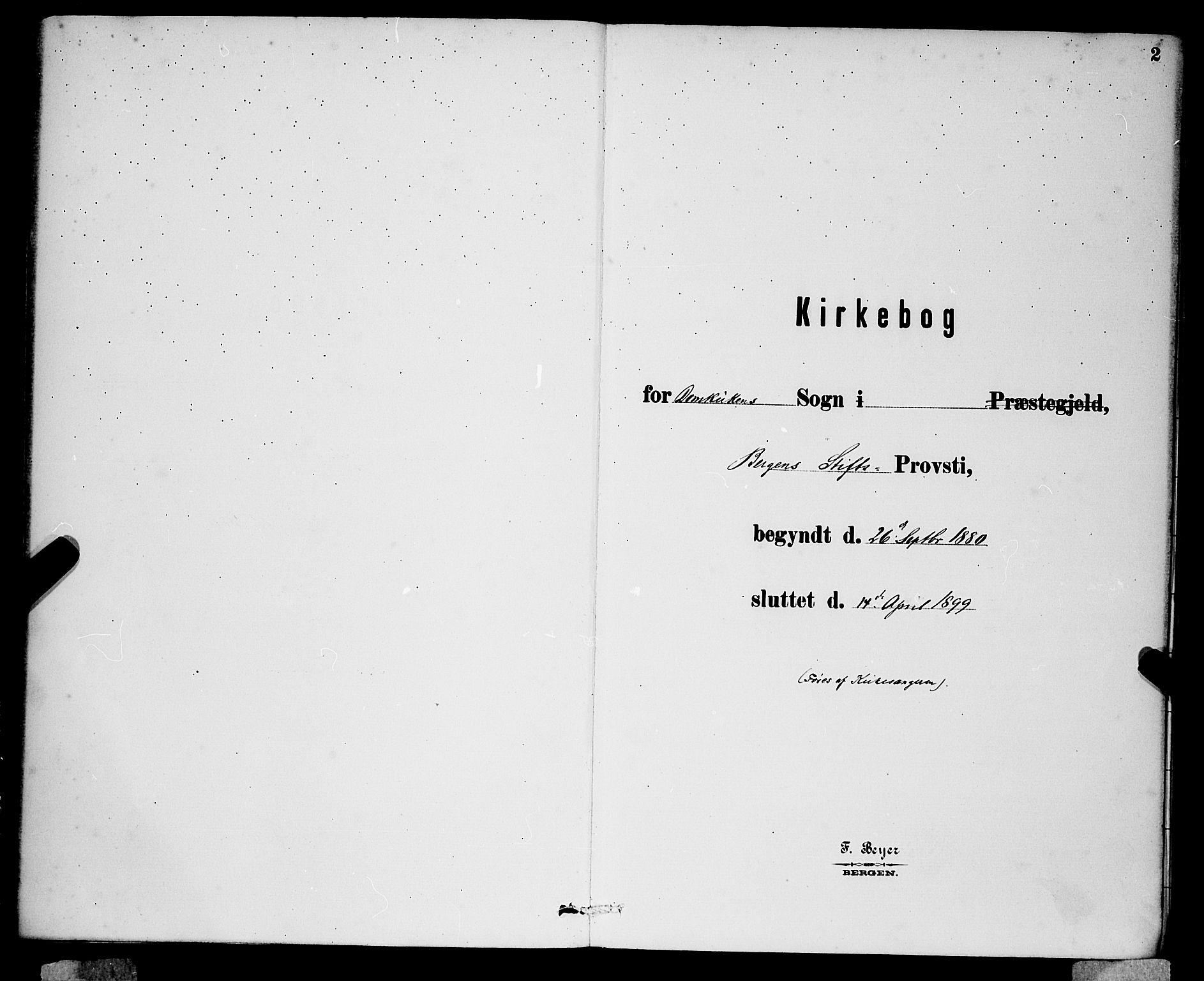 SAB, Domkirken Sokneprestembete, H/Hab/L0024: Klokkerbok nr. C 4, 1880-1899, s. 2