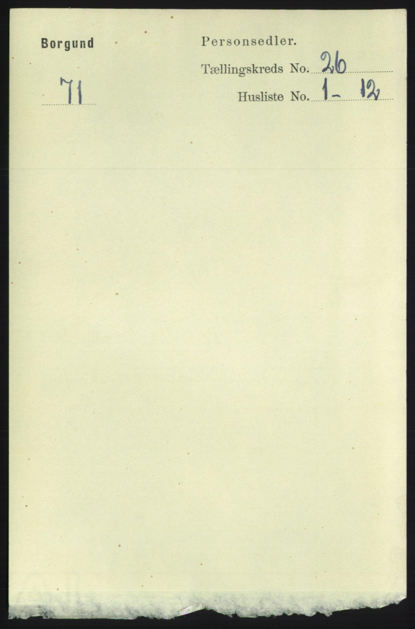 RA, Folketelling 1891 for 1531 Borgund herred, 1891, s. 7592