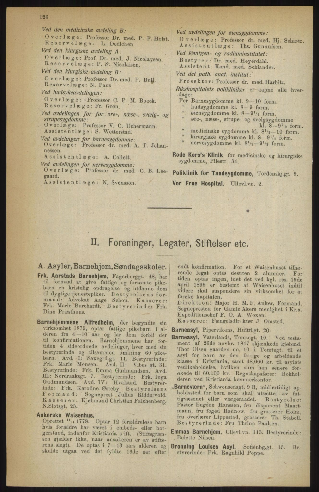 RA, Kristiania adressebok (publikasjon)*, 1914, s. 126
