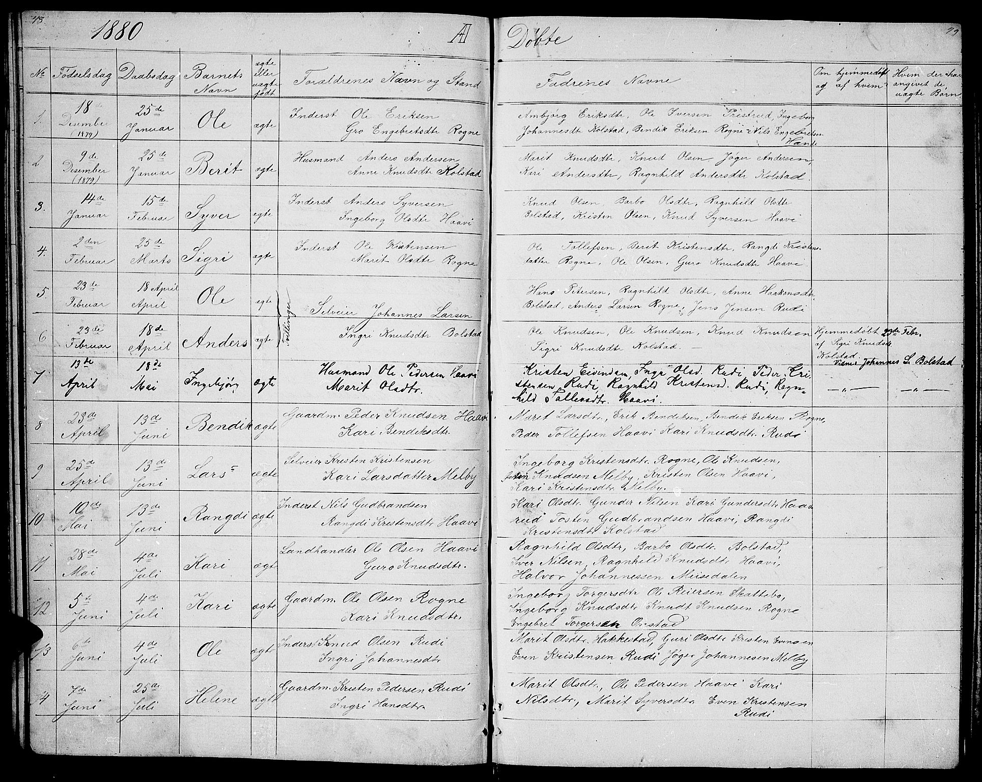 SAH, Øystre Slidre prestekontor, Klokkerbok nr. 3, 1866-1886, s. 48-49