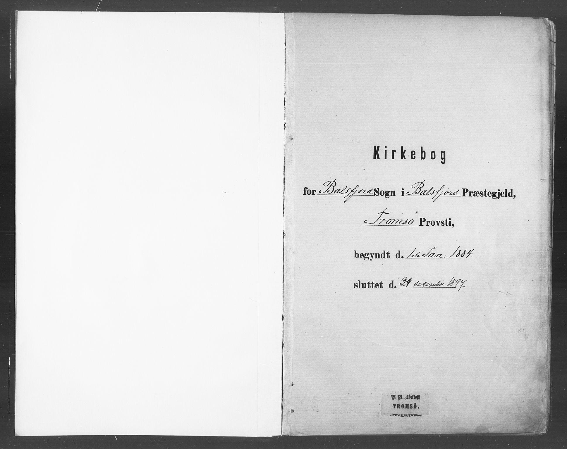 SATØ, Balsfjord sokneprestembete, Ministerialbok nr. 5, 1884-1897