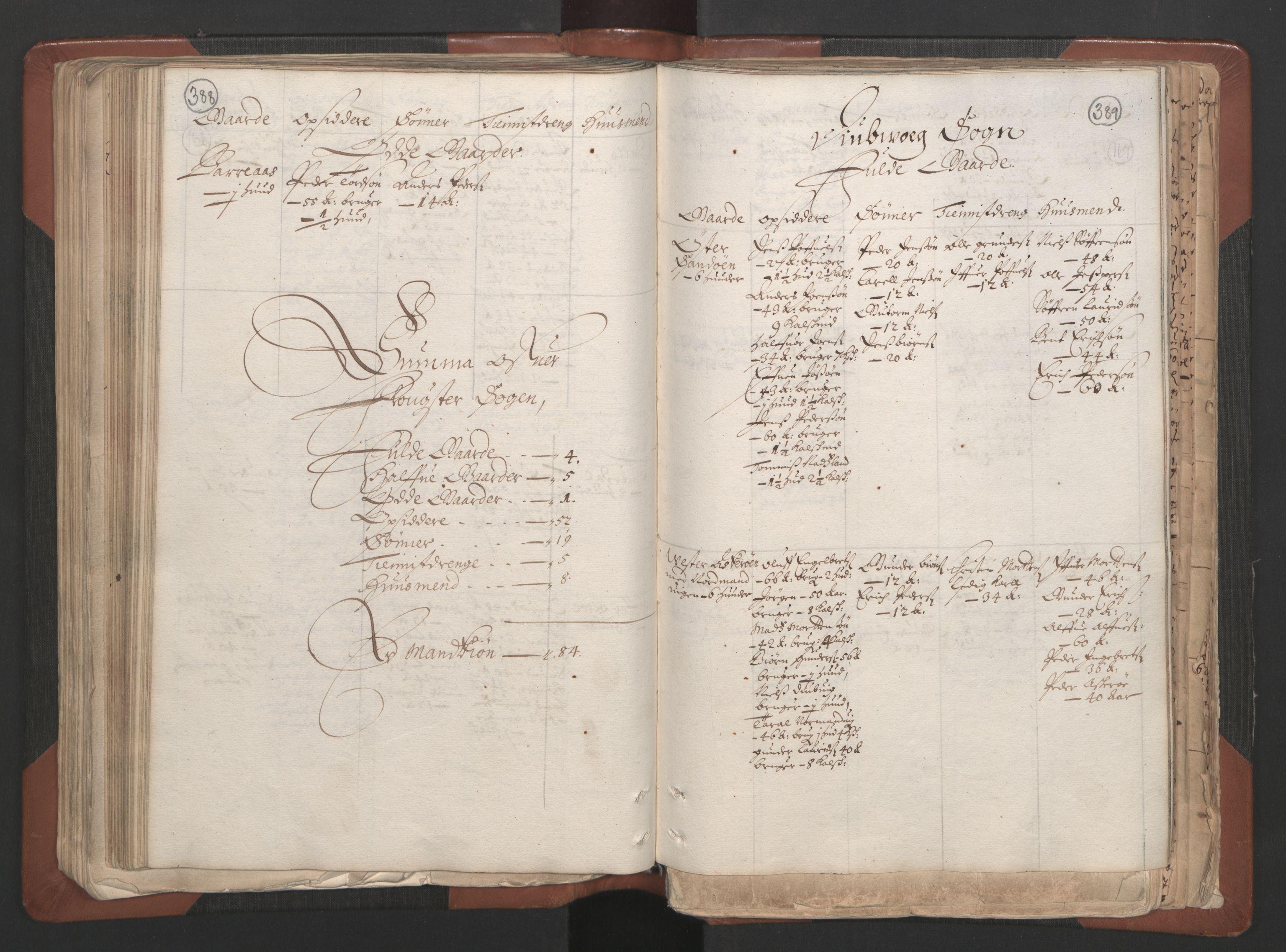 RA, Fogdenes og sorenskrivernes manntall 1664-1666, nr. 7: Nedenes fogderi, 1664-1666, s. 388-389