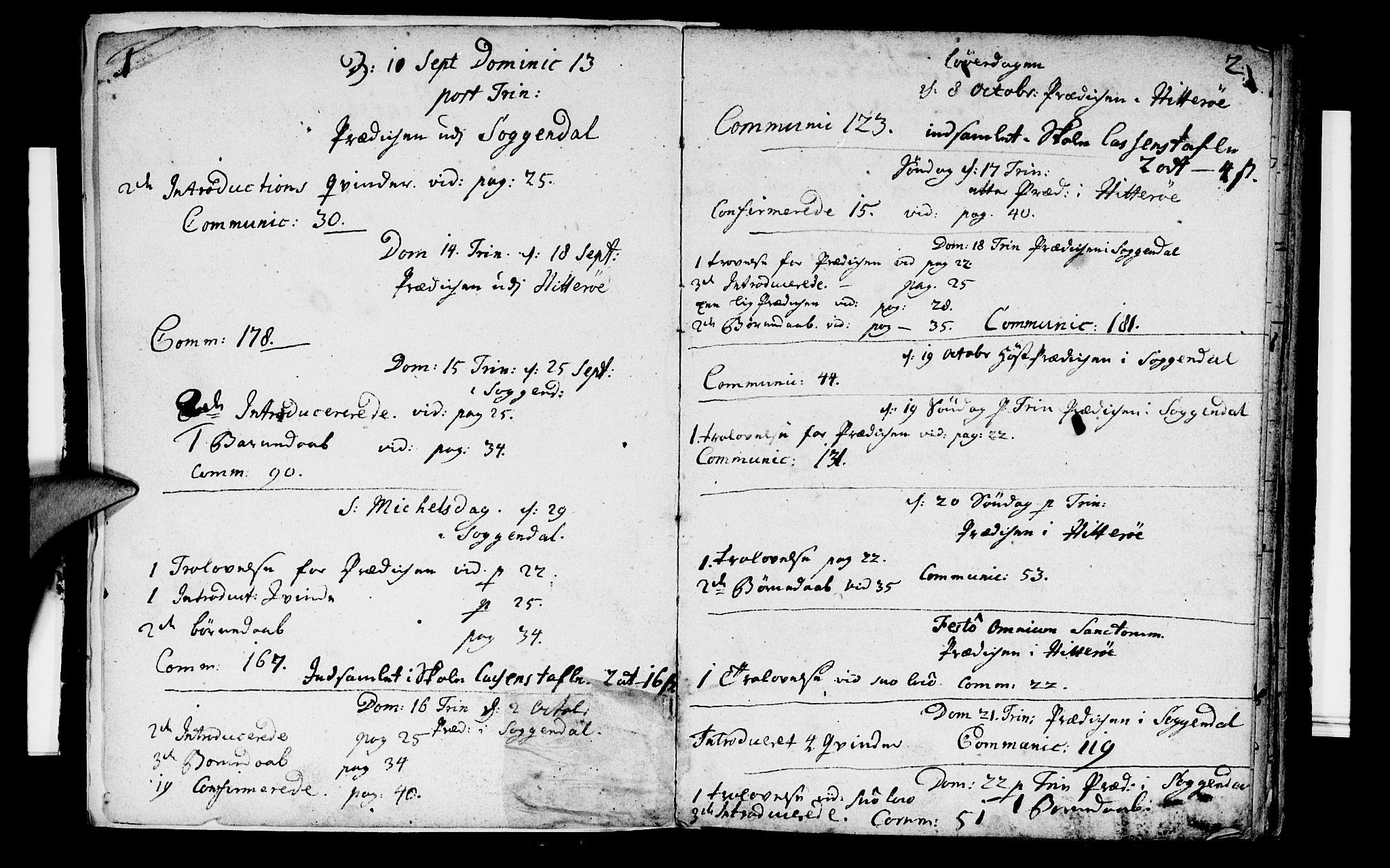 SAST, Sokndal sokneprestkontor, Ministerialbok nr. A 2, 1740-1743, s. 1-2