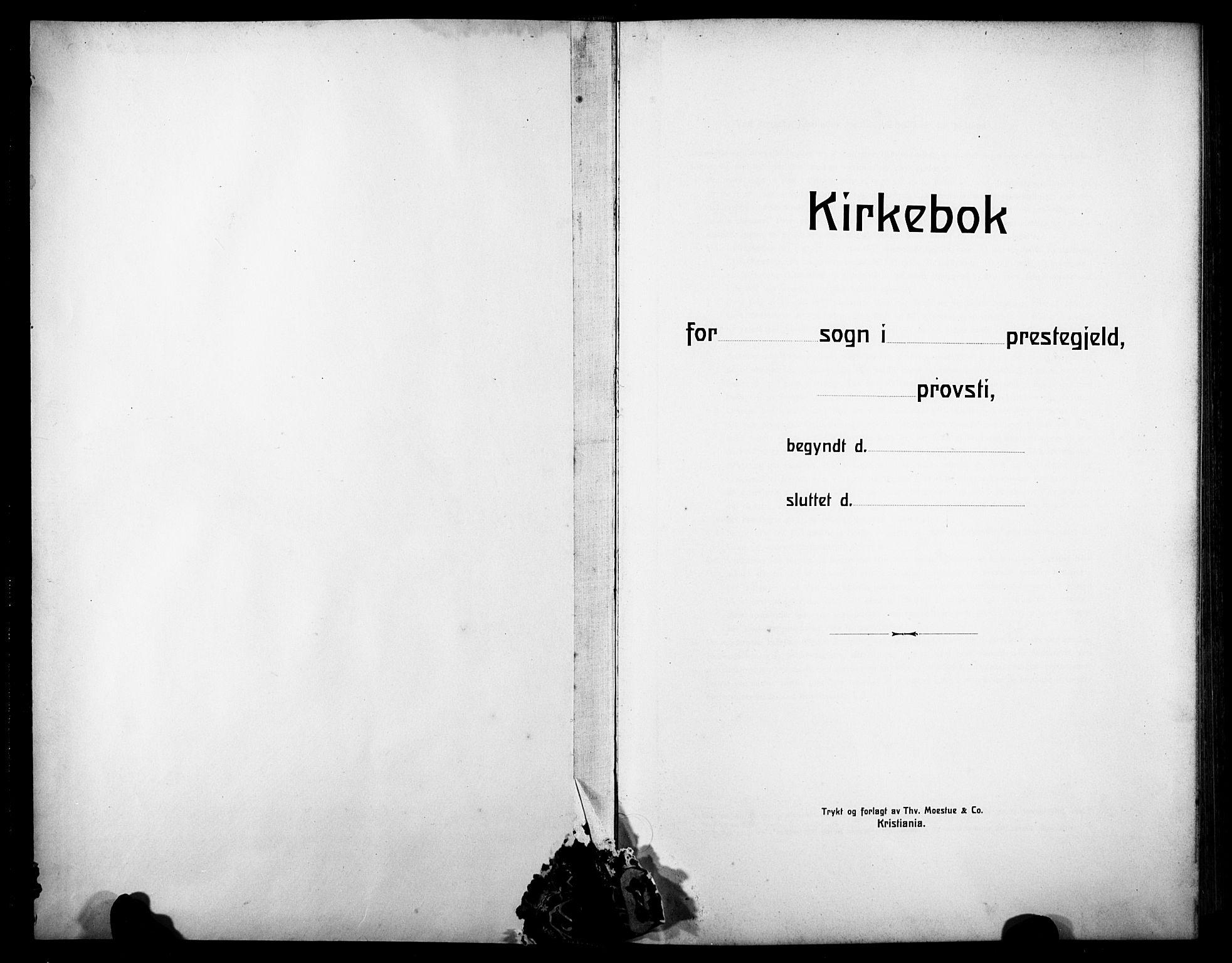 SAKO, Notodden kirkebøker, G/Ga/L0001: Klokkerbok nr. 1, 1912-1923