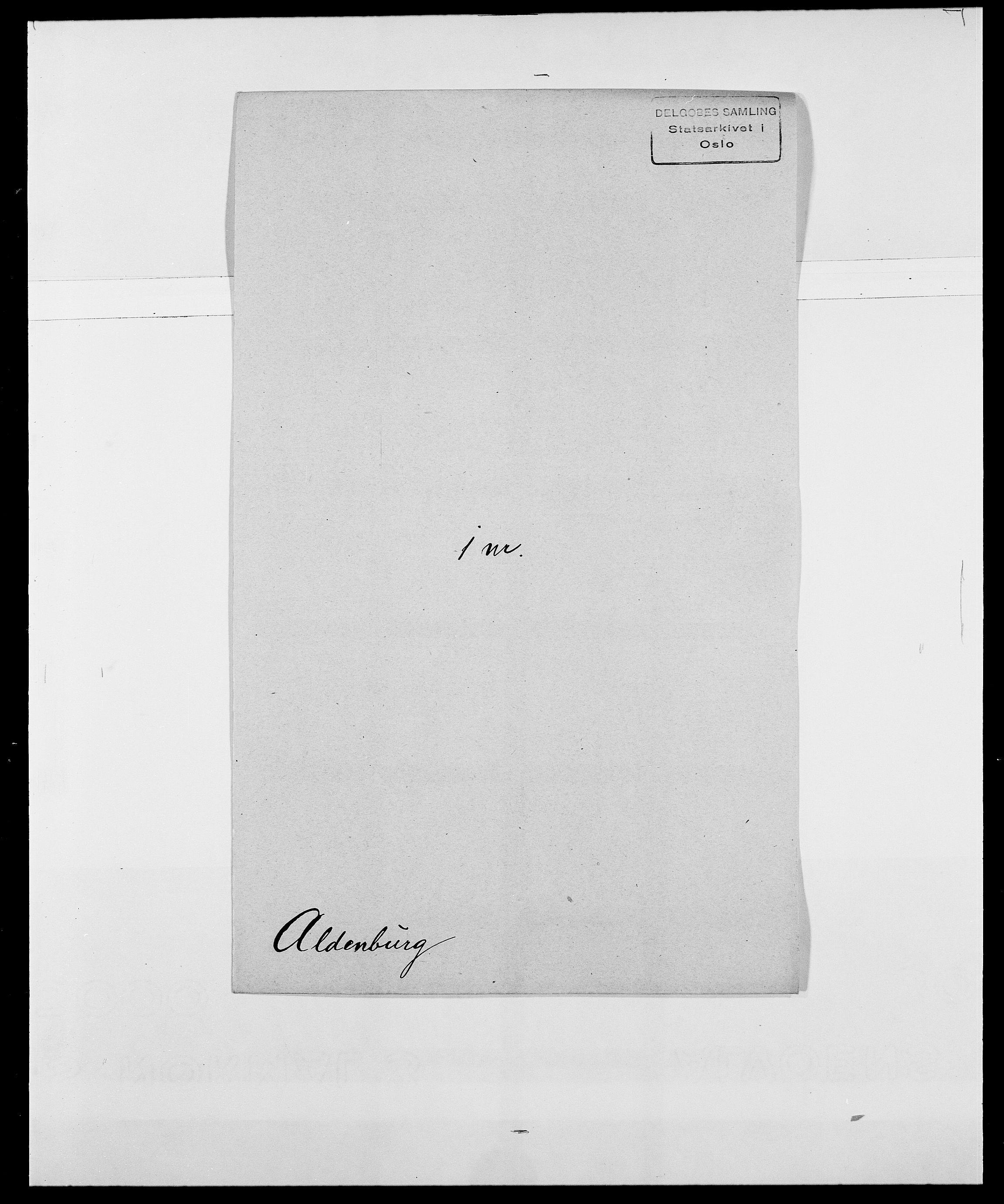 SAO, Delgobe, Charles Antoine - samling, D/Da/L0001: Aabye - Angerman, s. 384