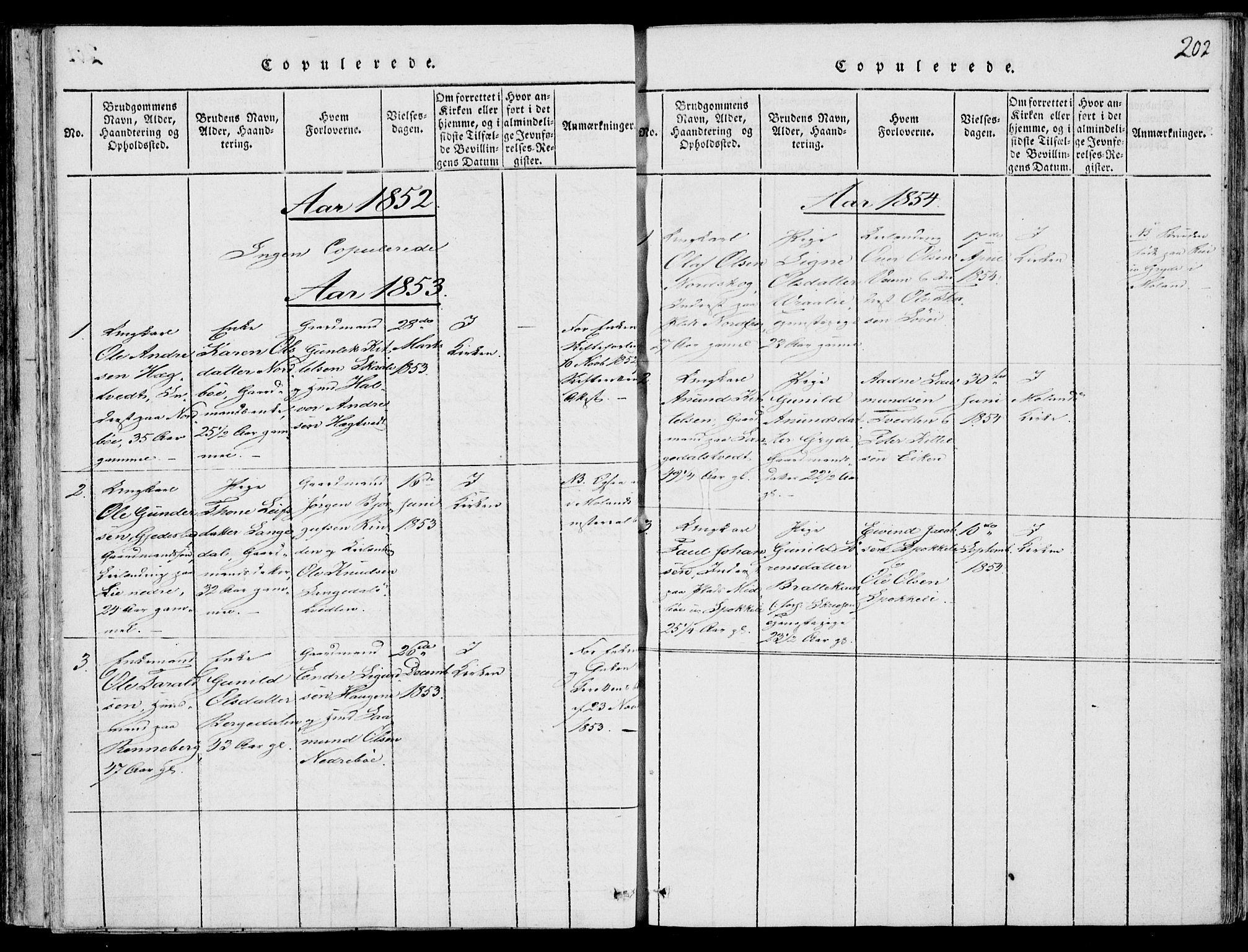 SAKO, Fyresdal kirkebøker, F/Fb/L0001: Ministerialbok nr. II 1, 1815-1854, s. 202