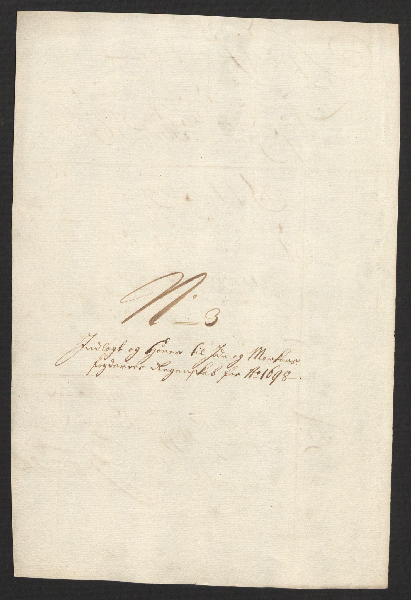 RA, Rentekammeret inntil 1814, Reviderte regnskaper, Fogderegnskap, R01/L0013: Fogderegnskap Idd og Marker, 1696-1698, s. 338