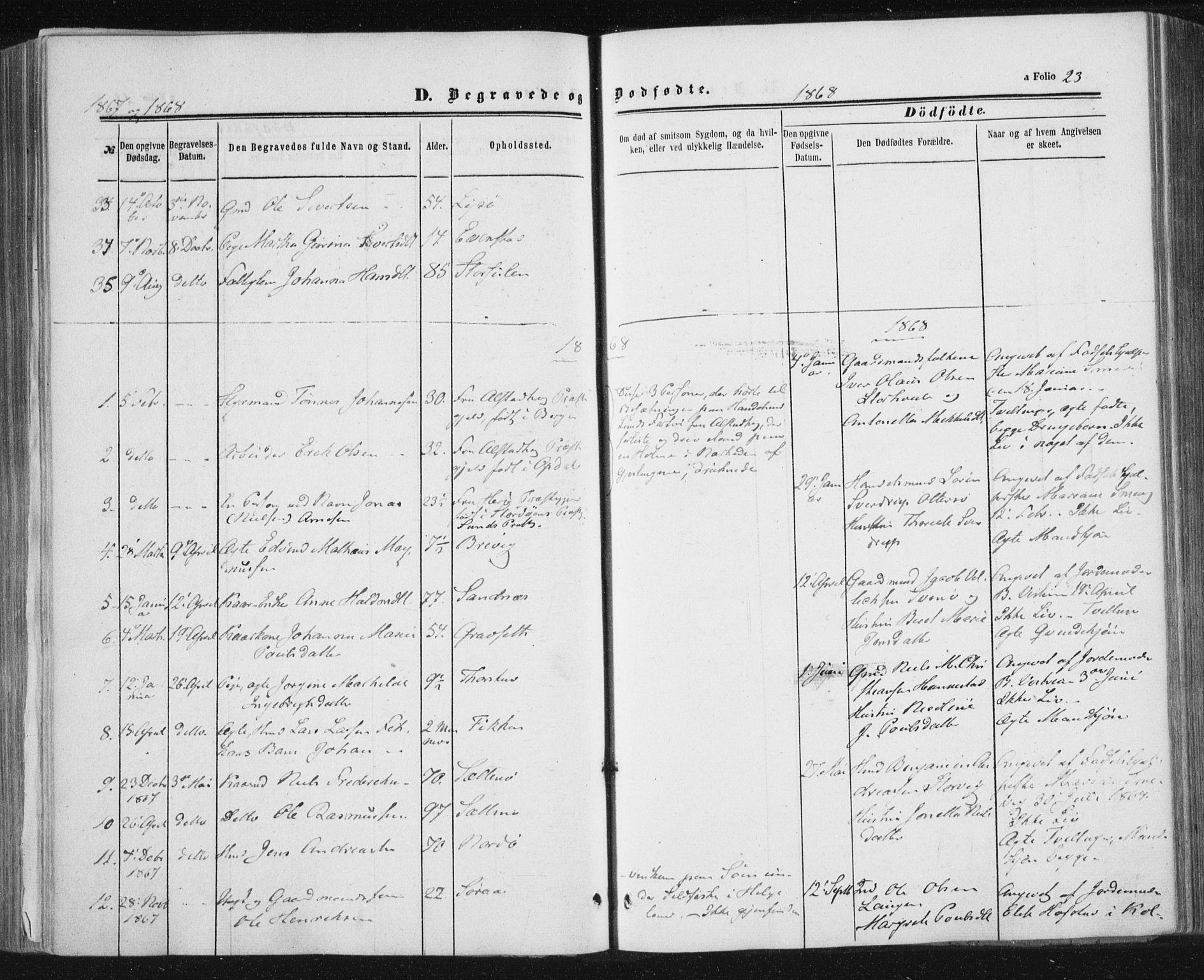 SAT, Ministerialprotokoller, klokkerbøker og fødselsregistre - Nord-Trøndelag, 784/L0670: Ministerialbok nr. 784A05, 1860-1876, s. 23