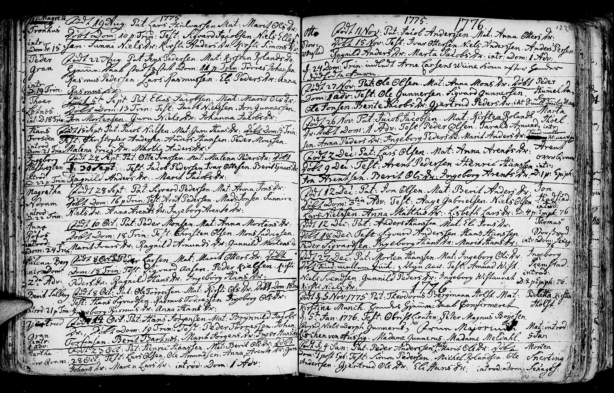 SAT, Ministerialprotokoller, klokkerbøker og fødselsregistre - Nord-Trøndelag, 730/L0273: Ministerialbok nr. 730A02, 1762-1802, s. 122