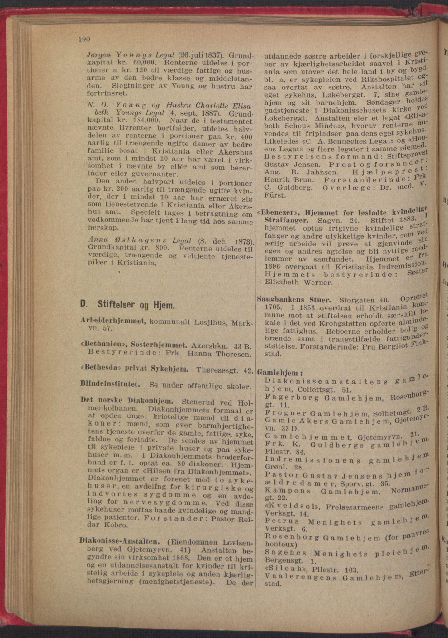 RA, Kristiania adressebok (publikasjon)*, 1918, s. 190