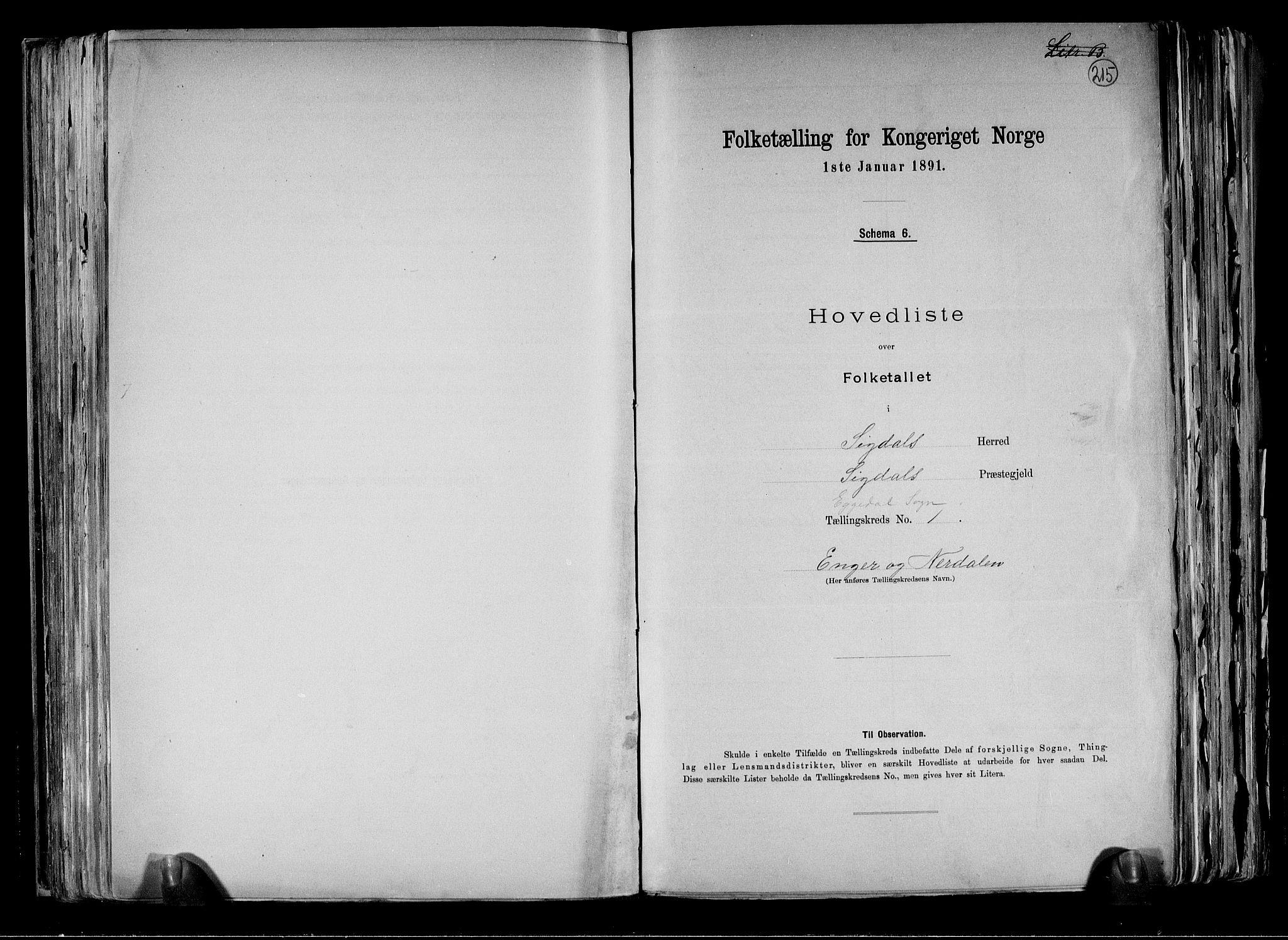 RA, Folketelling 1891 for 0621 Sigdal herred, 1891, s. 28