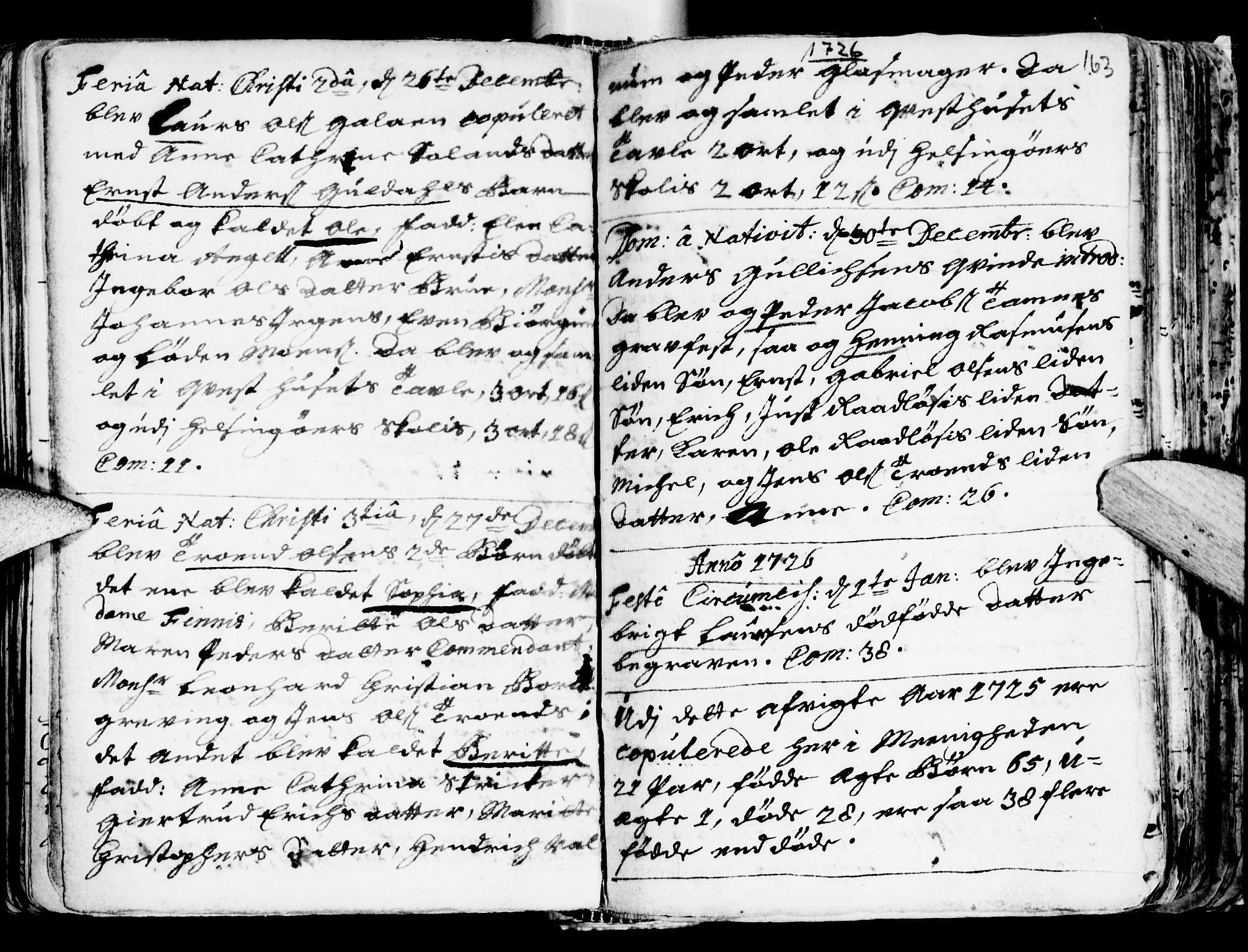 SAT, Ministerialprotokoller, klokkerbøker og fødselsregistre - Sør-Trøndelag, 681/L0924: Ministerialbok nr. 681A02, 1720-1731, s. 162-163