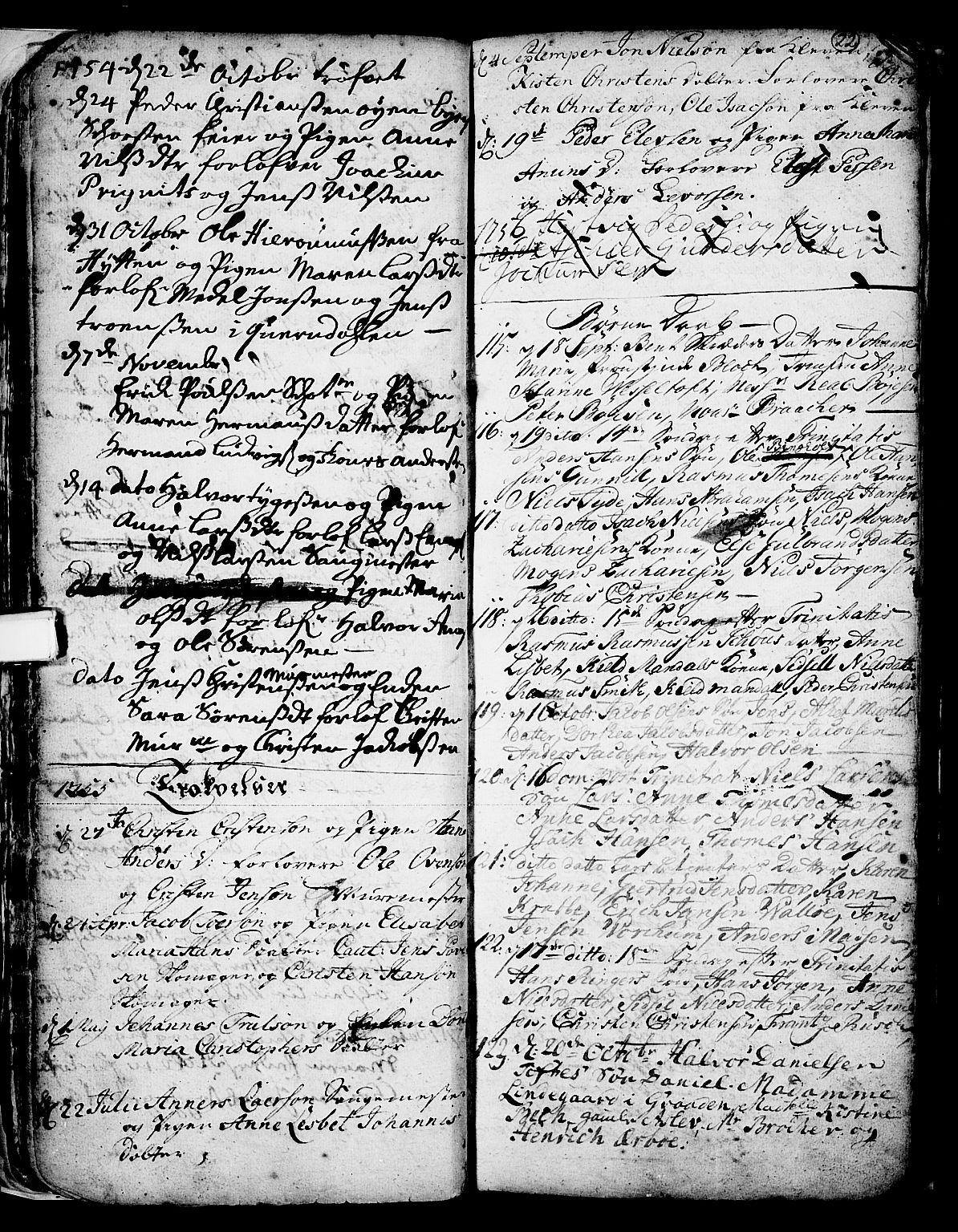 SAKO, Skien kirkebøker, F/Fa/L0002: Ministerialbok nr. 2, 1716-1757, s. 22